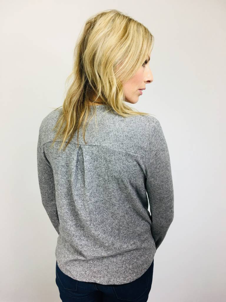 ZSupply Brushed Rib Wrap in Heathered Gray