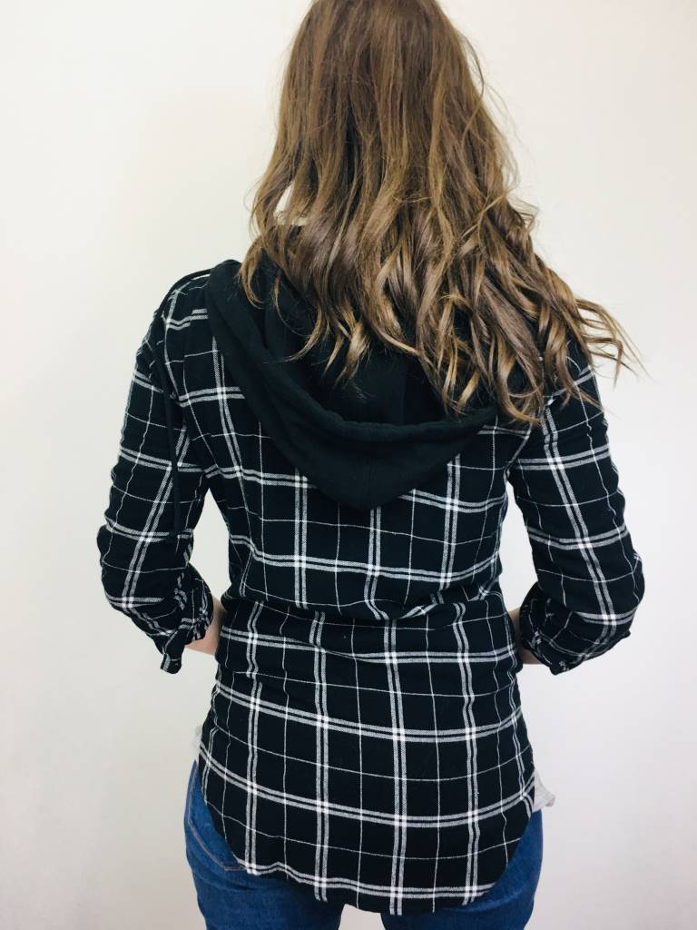 Staccato Black and White Plaid Jacket