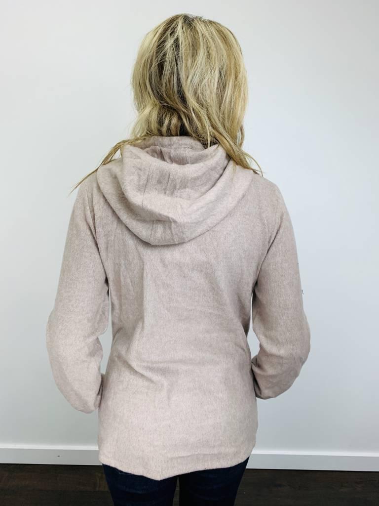 Hem & Thread Brushed Plaid Contrast Hoodie