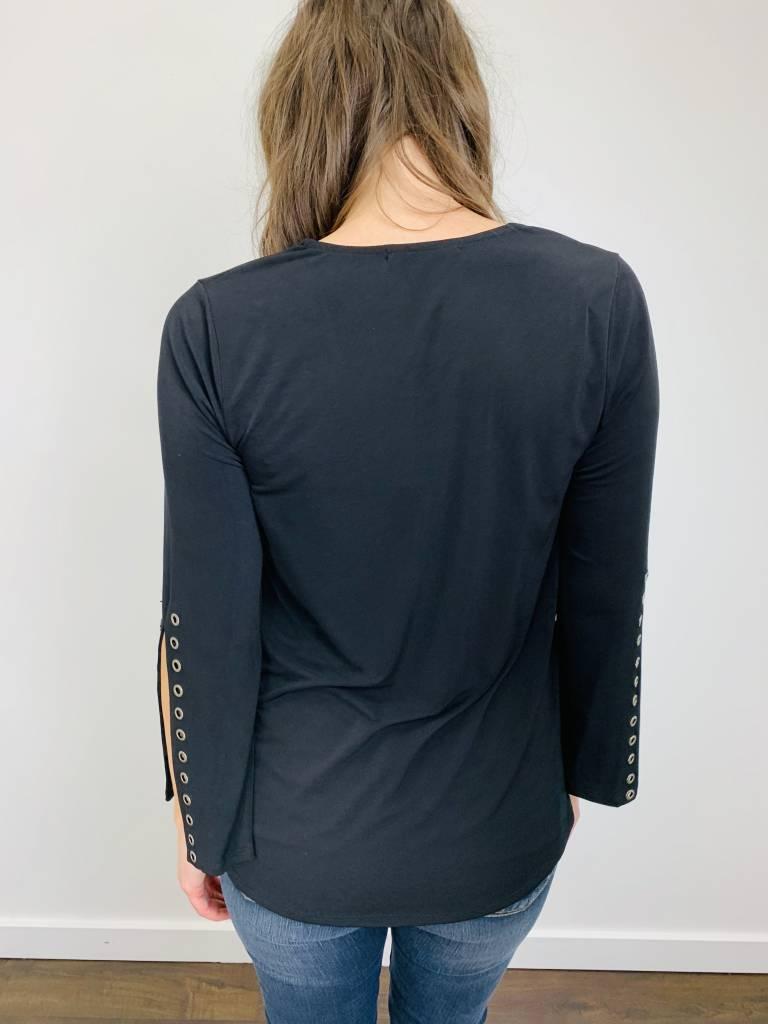 Ariella Grommet Sleeve Top