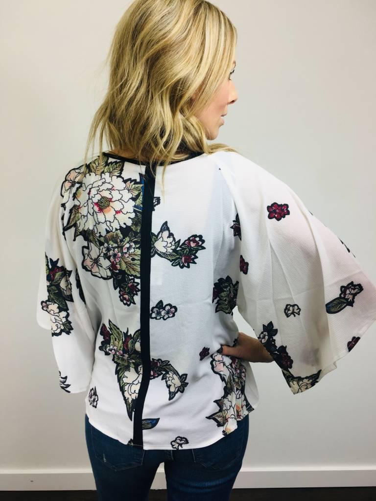 Papillon Kimono Style Floral Top