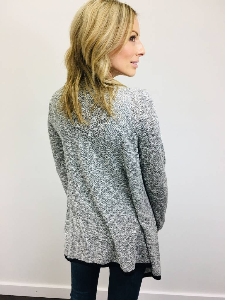 Downeast Naturally Sweet Cardi Blk/Wht