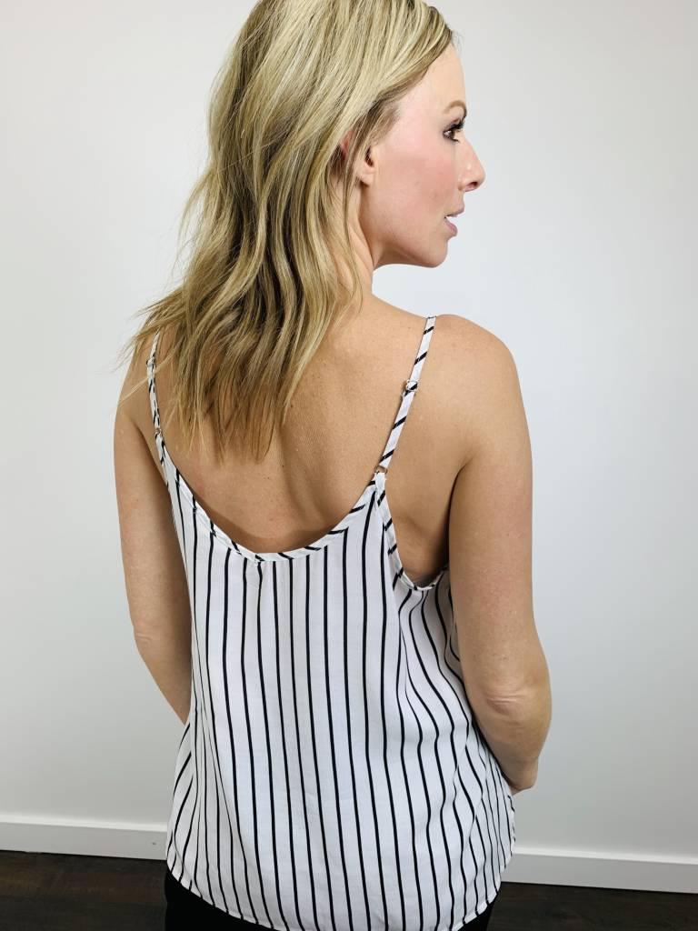 Entro Embroidered Stripe Tank