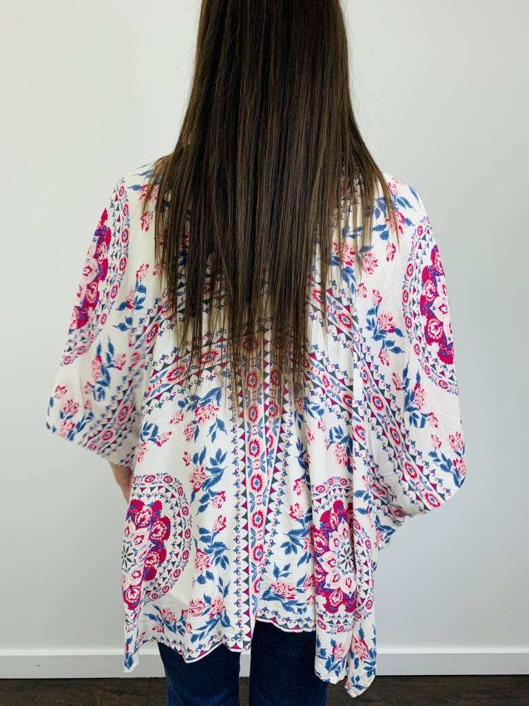 Entro Pretty Pink and China Blue Kimono
