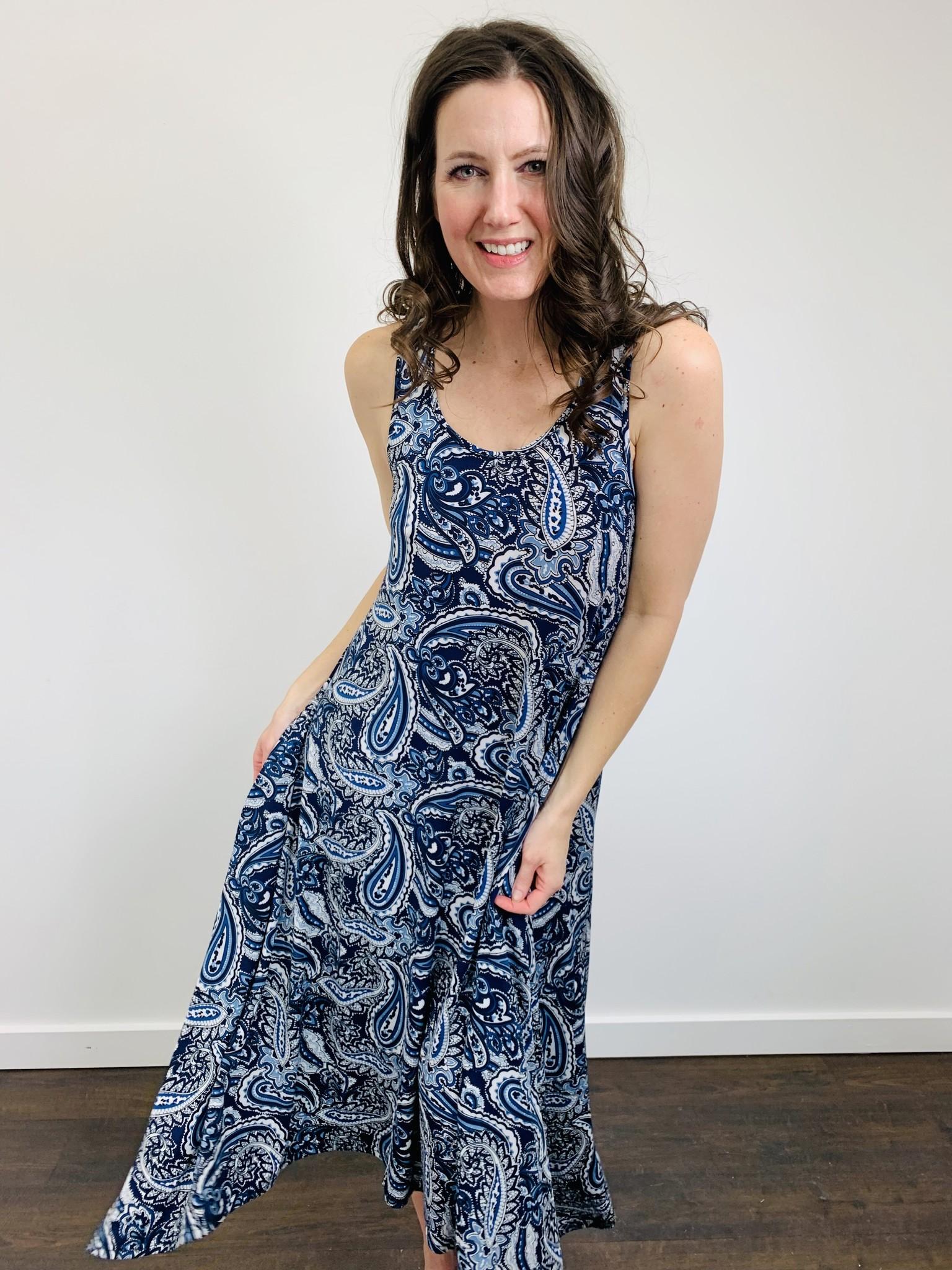 Papillon Paisley Midi Dress