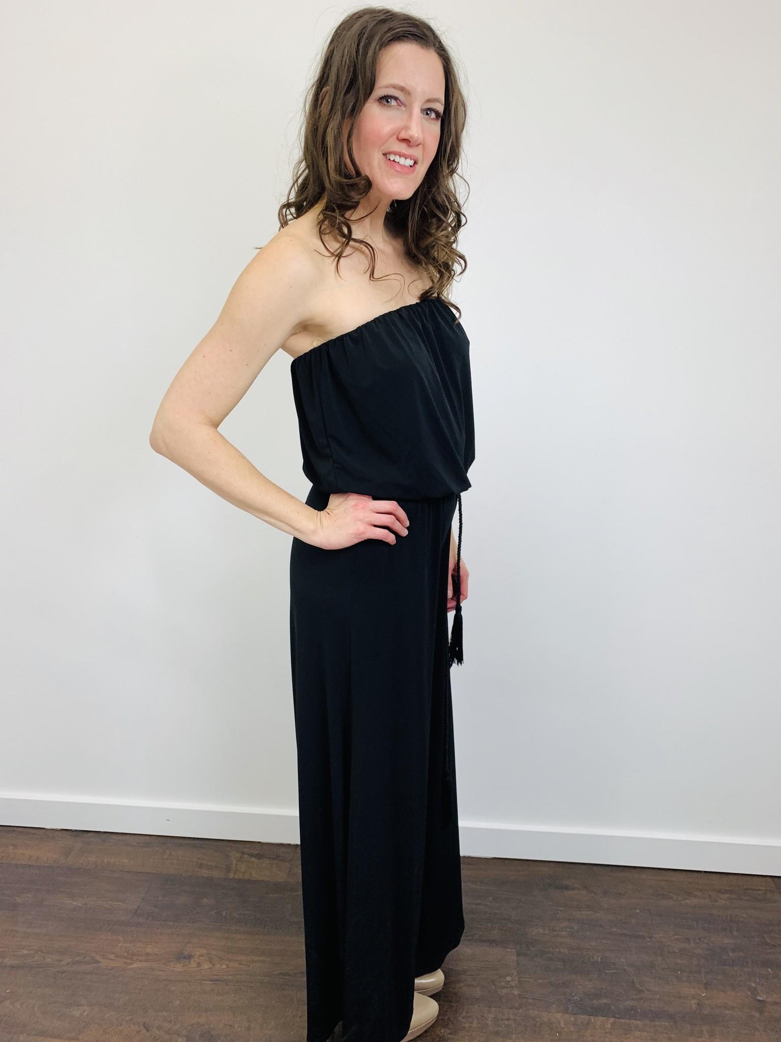 Ariella Black Strapless Jumpsuit