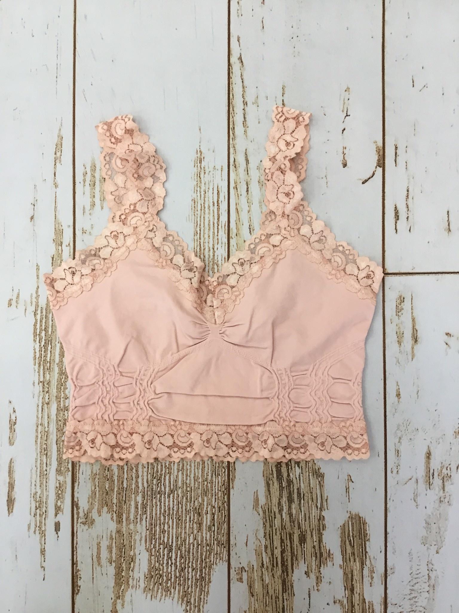 M Rena Lace Trim Bralette Pink Marshmallow