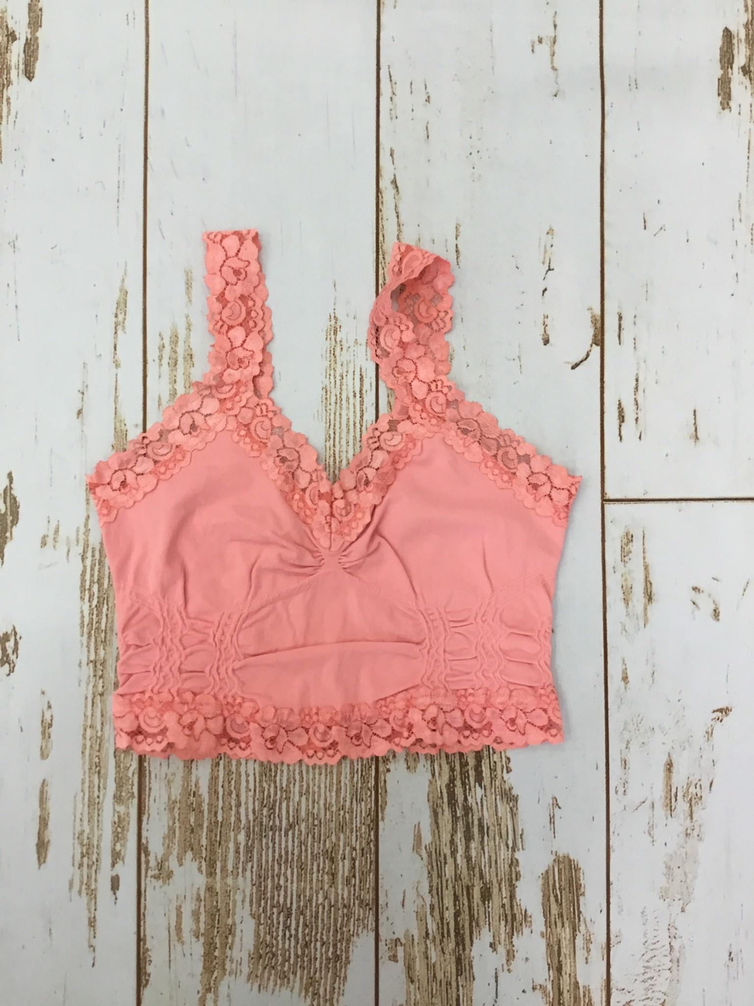 M Rena Lace Trim Bralette Coral