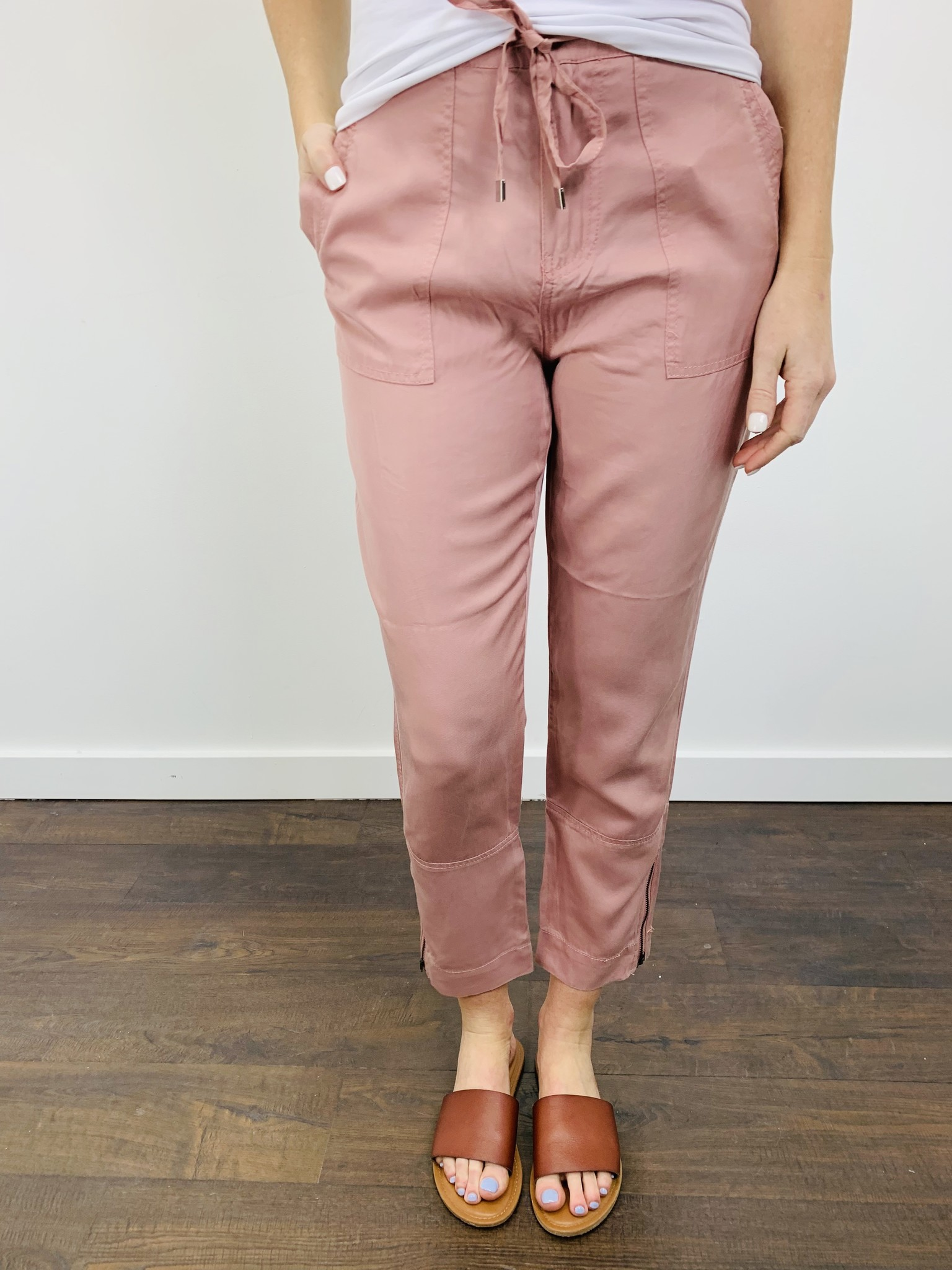 Dex High Waisted Soft Pant in Soft Ginger
