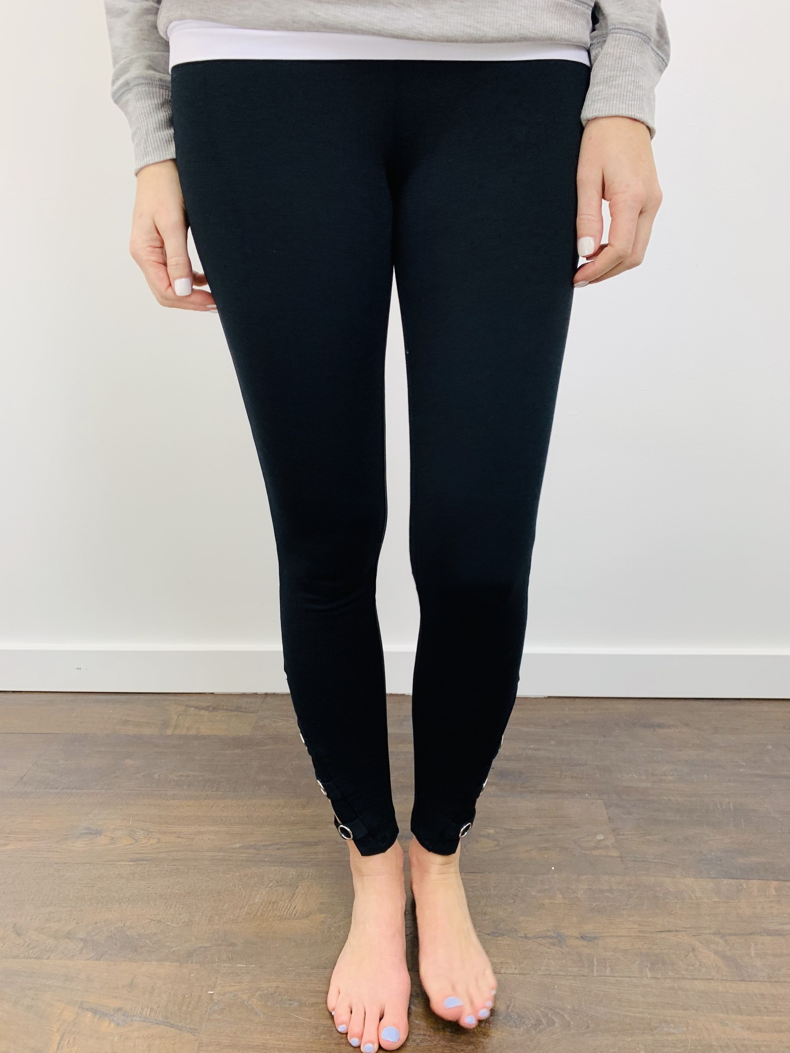 Dex Black Legging w/ Strap Detail