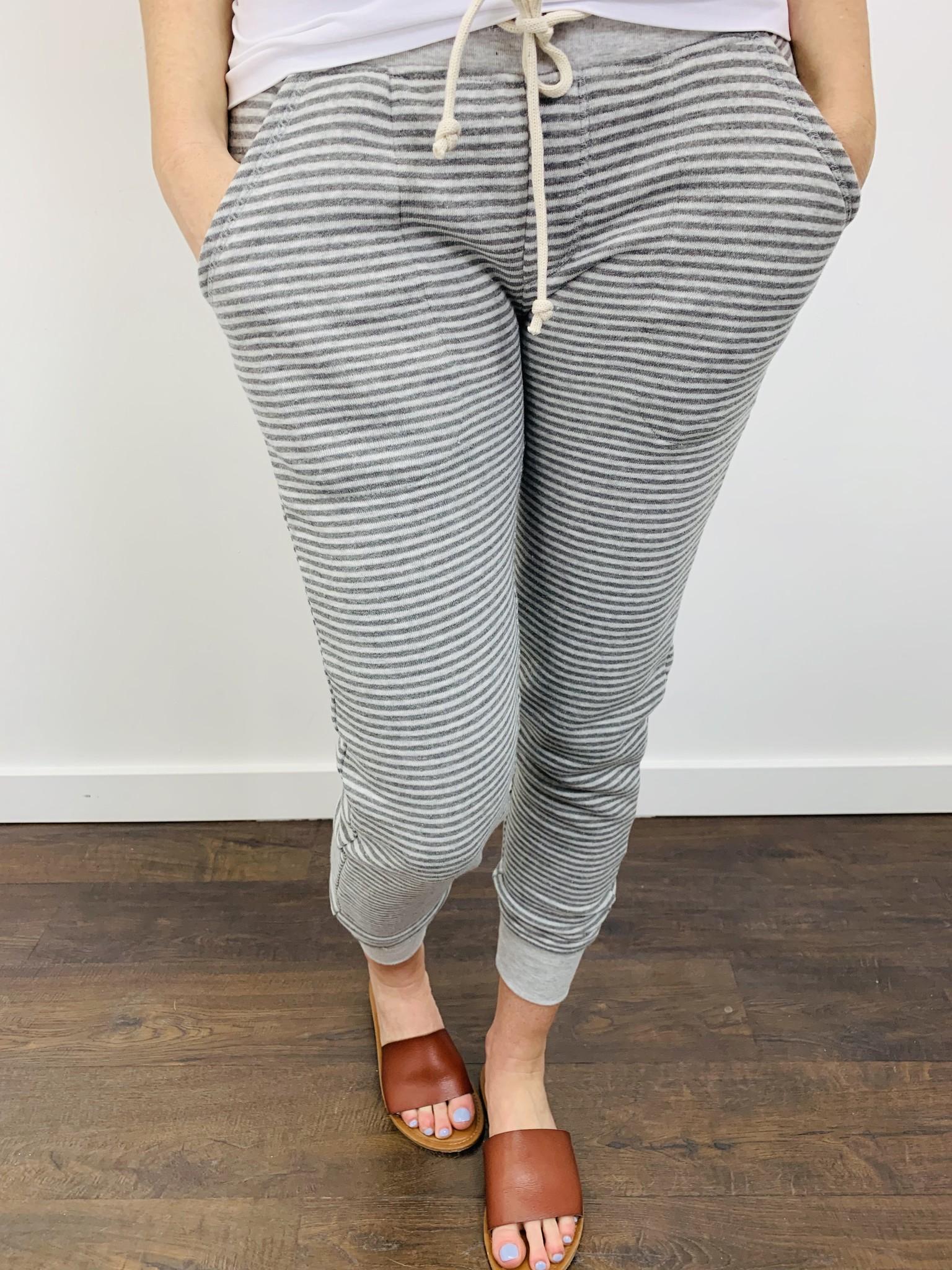 Alternative Striped Eco Fleece Jogger Pants