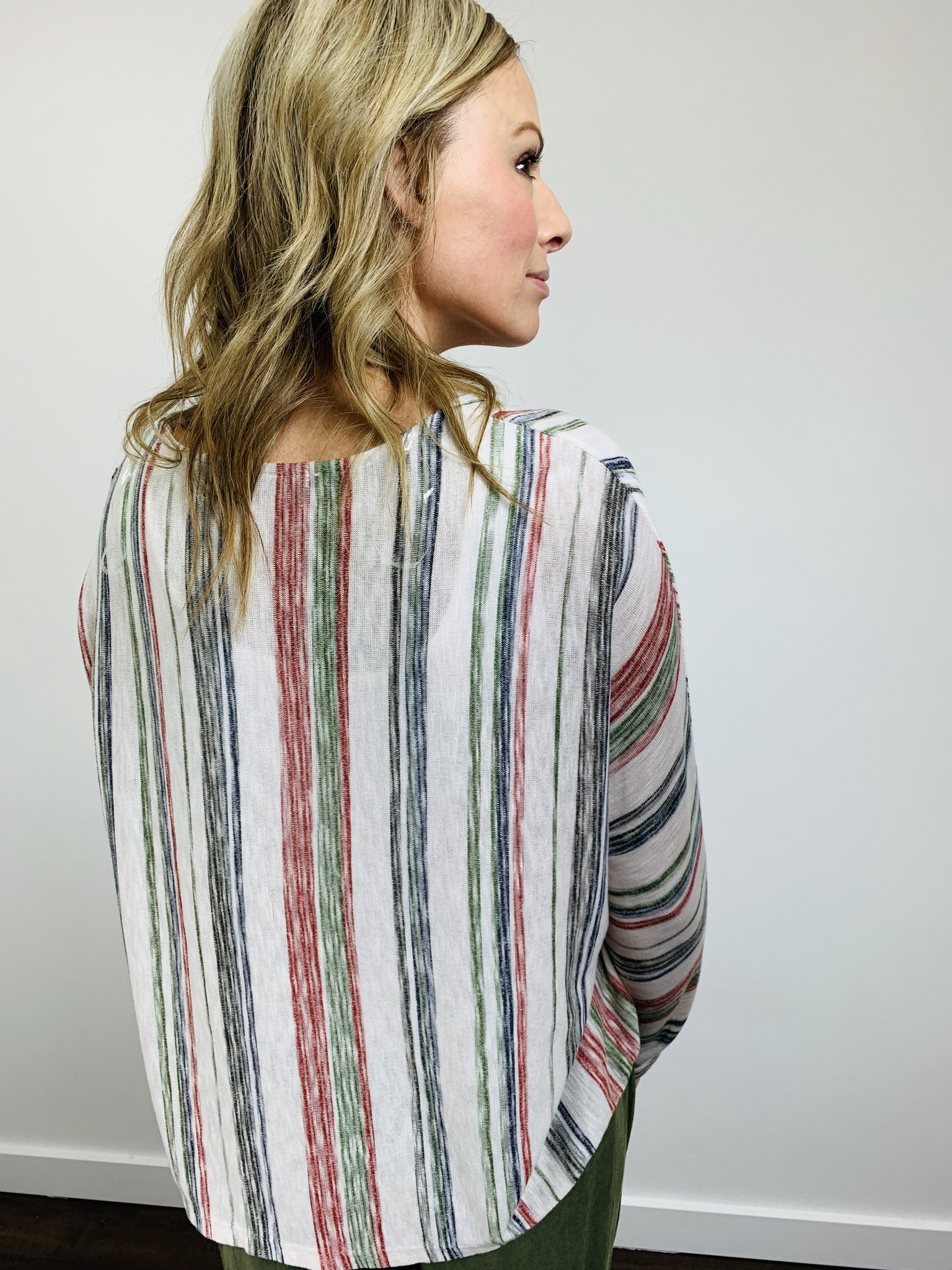 KLD Multi Color Stripe Top