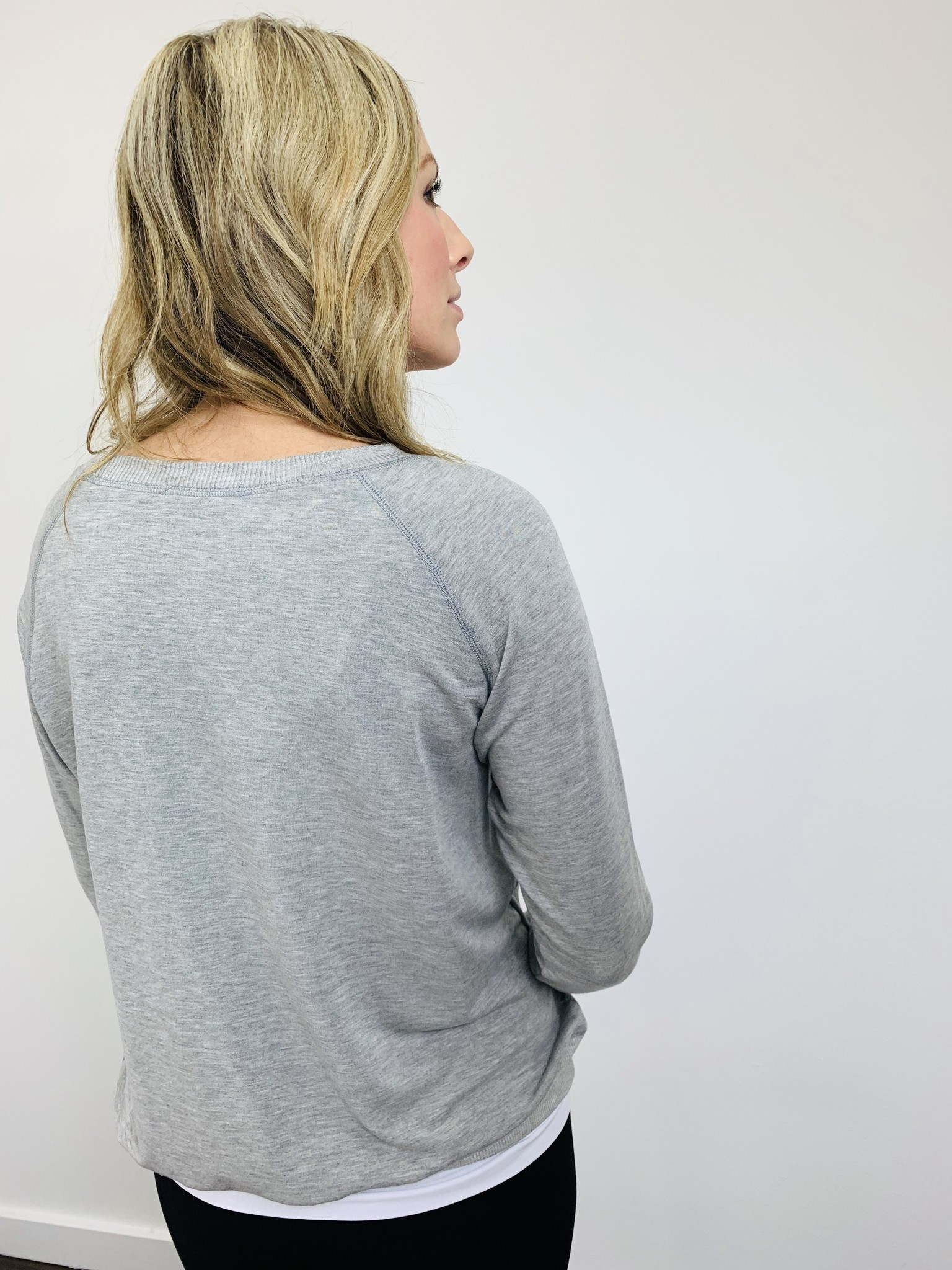 KLD French Terry Stitch Grey Detail Top