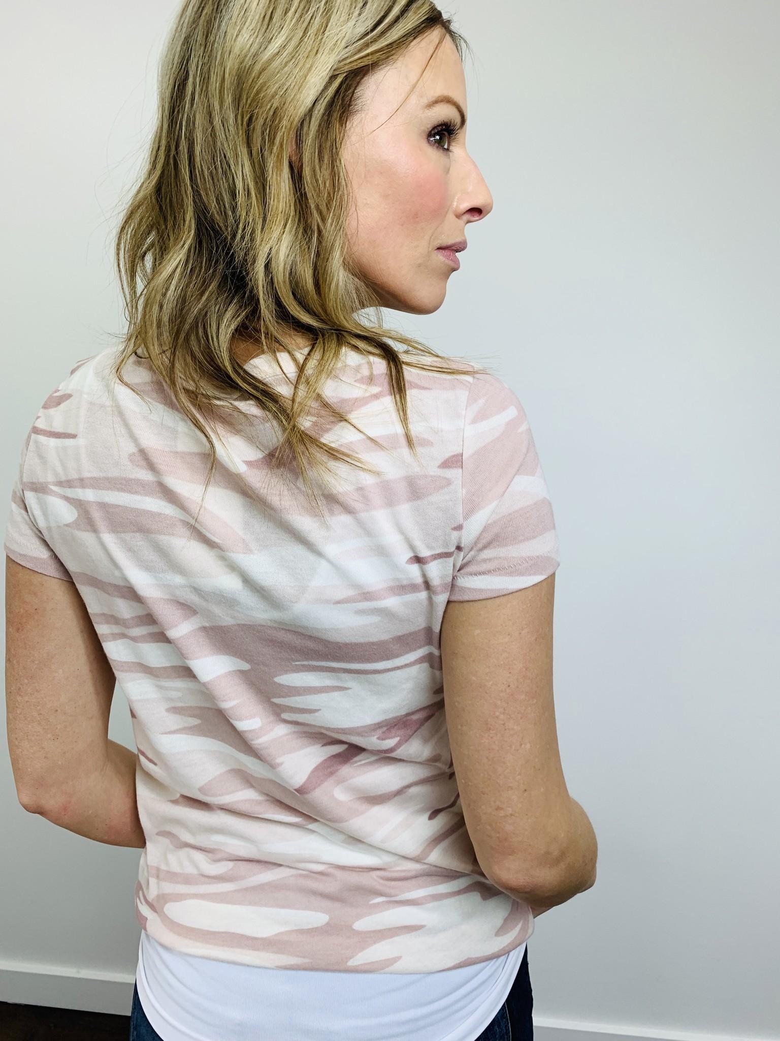 Alternative Camo Print Jersey Tee