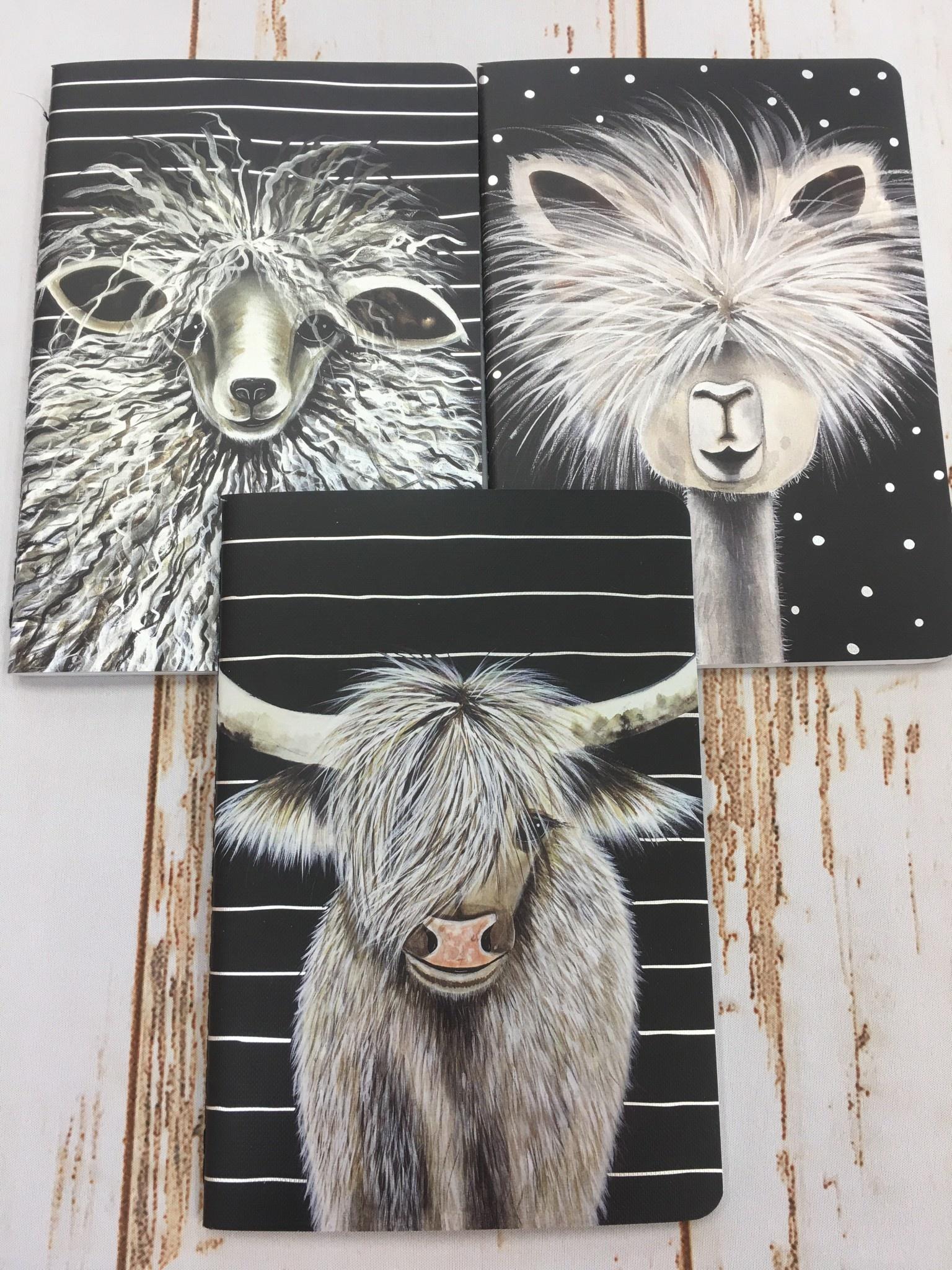 Farm Animals Notebook Trio