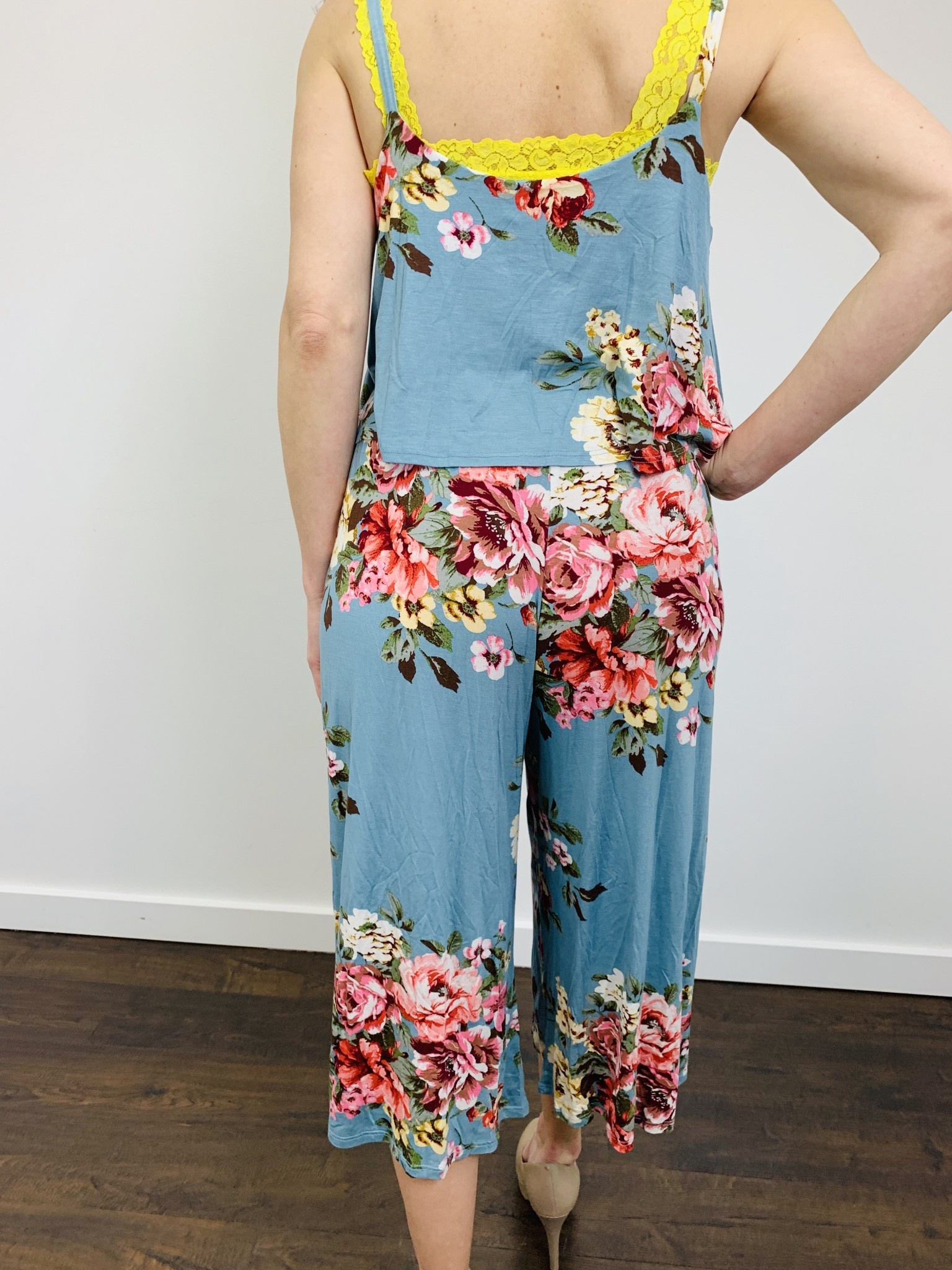 Papillon Floral Layered Top Jumpsuit