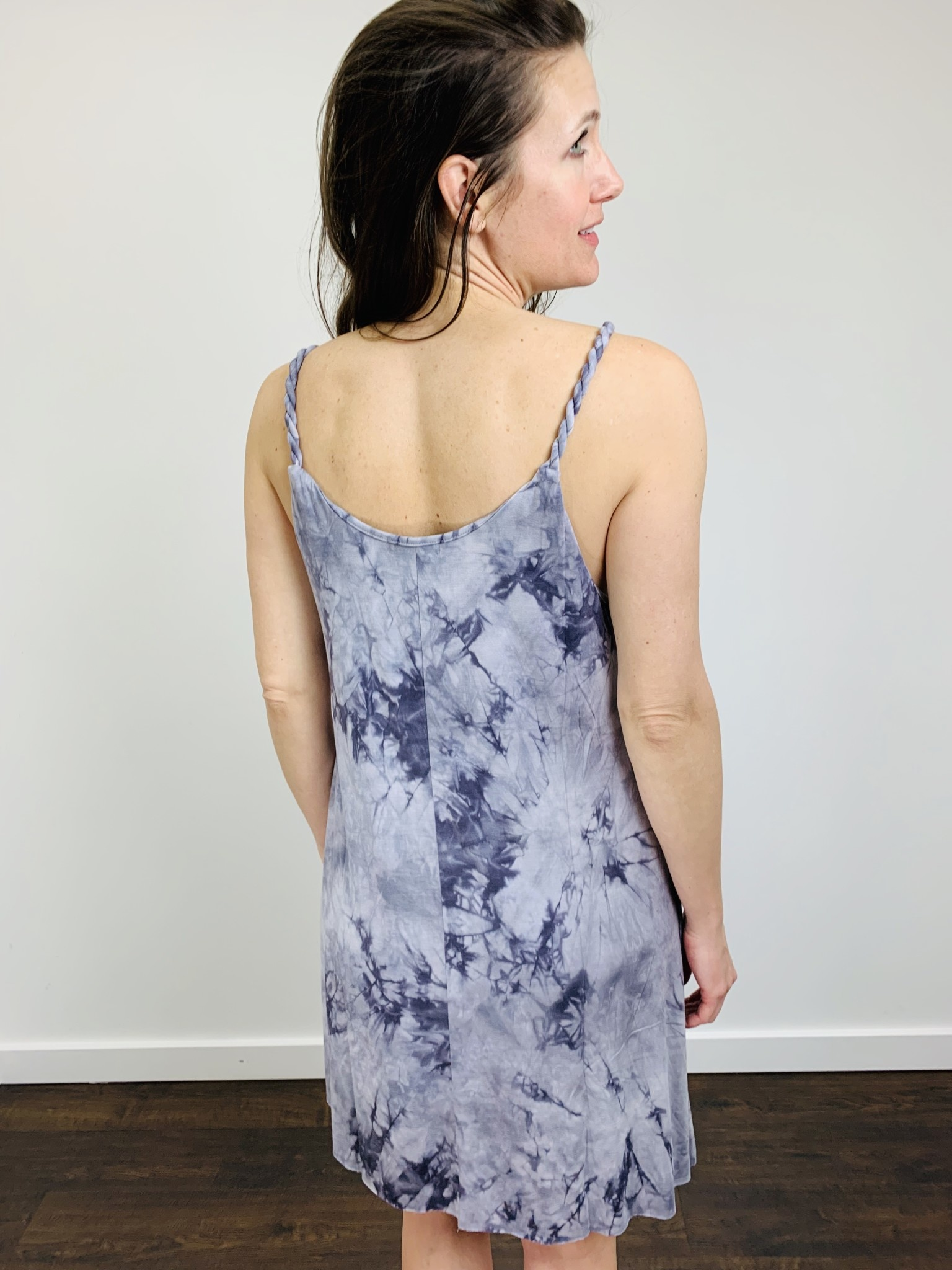 Papillon Tie Dye Dress with Braid Detail