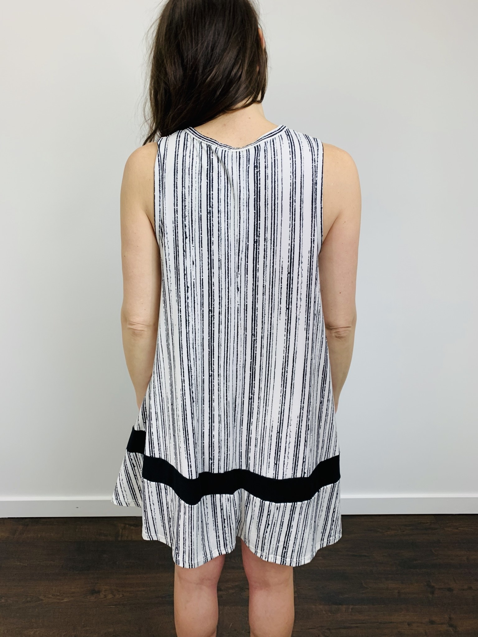 Papillon Broken Striped ALine Dress