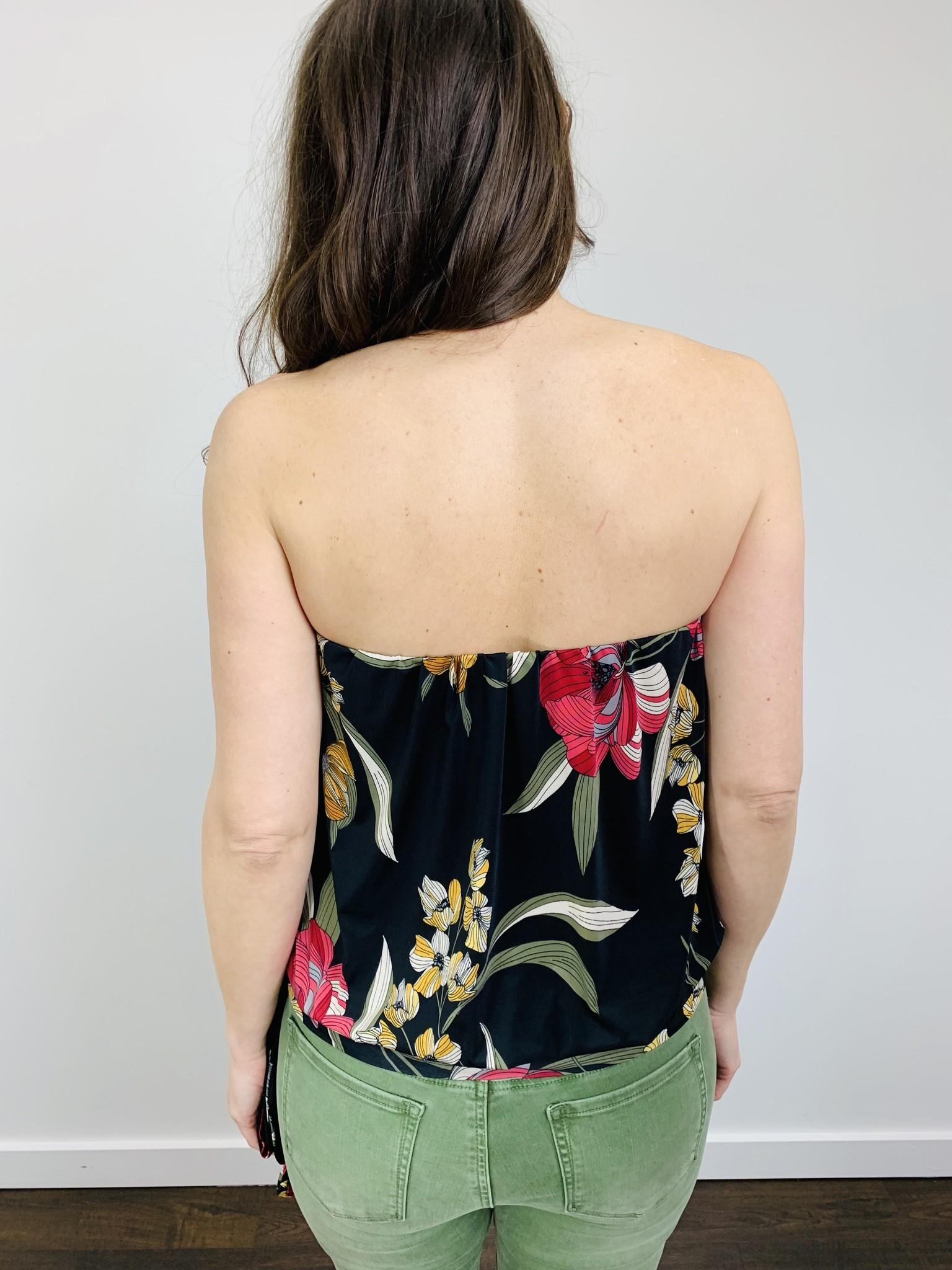 Ariella Printed Floral Tube Top