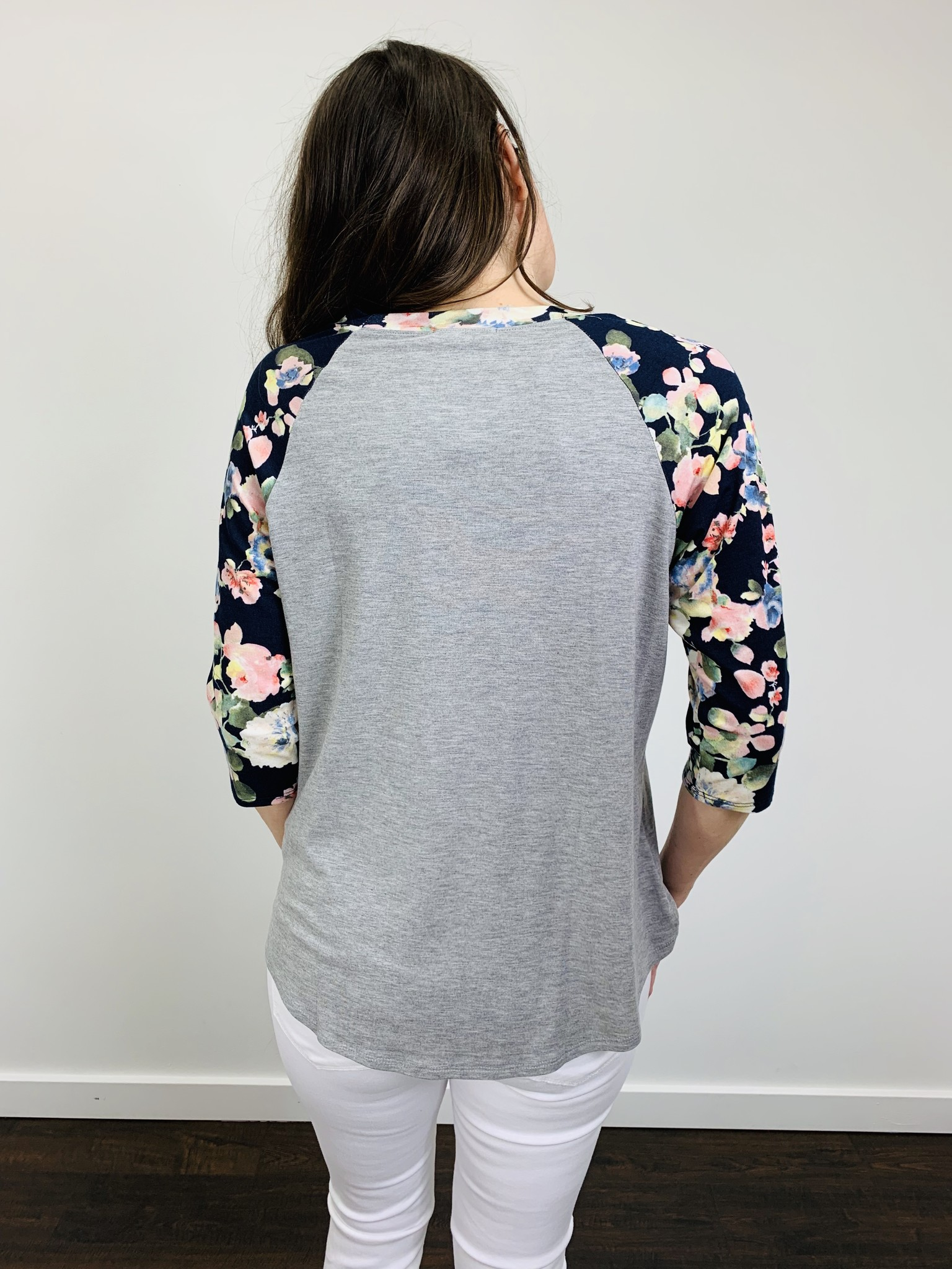 Downeast Ball Game Tee Navy Floral