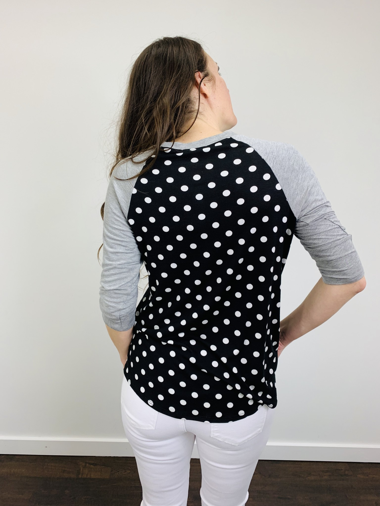 Downeast Ball Game Tee Polka Dot