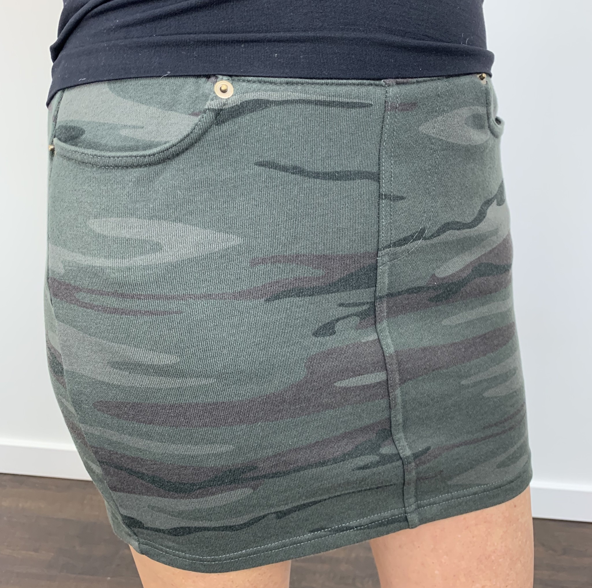 ZSupply The Camo Knit Mini Skirt