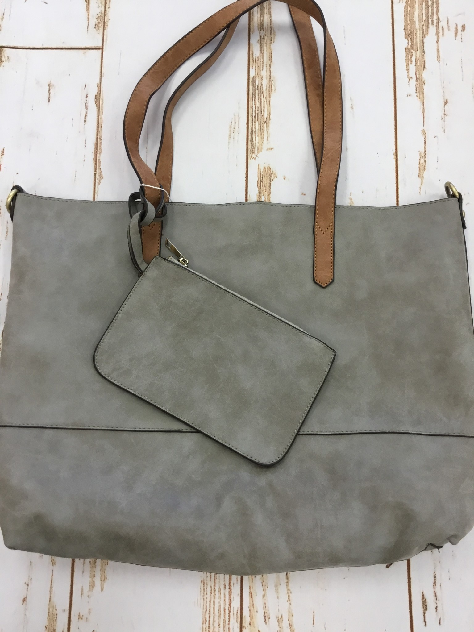 Joy Accessories 2 in 1 Tote Brushed Smoke Gray