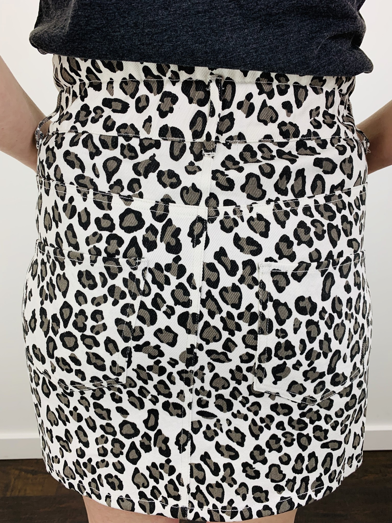 KLD Leopard Print Skirt