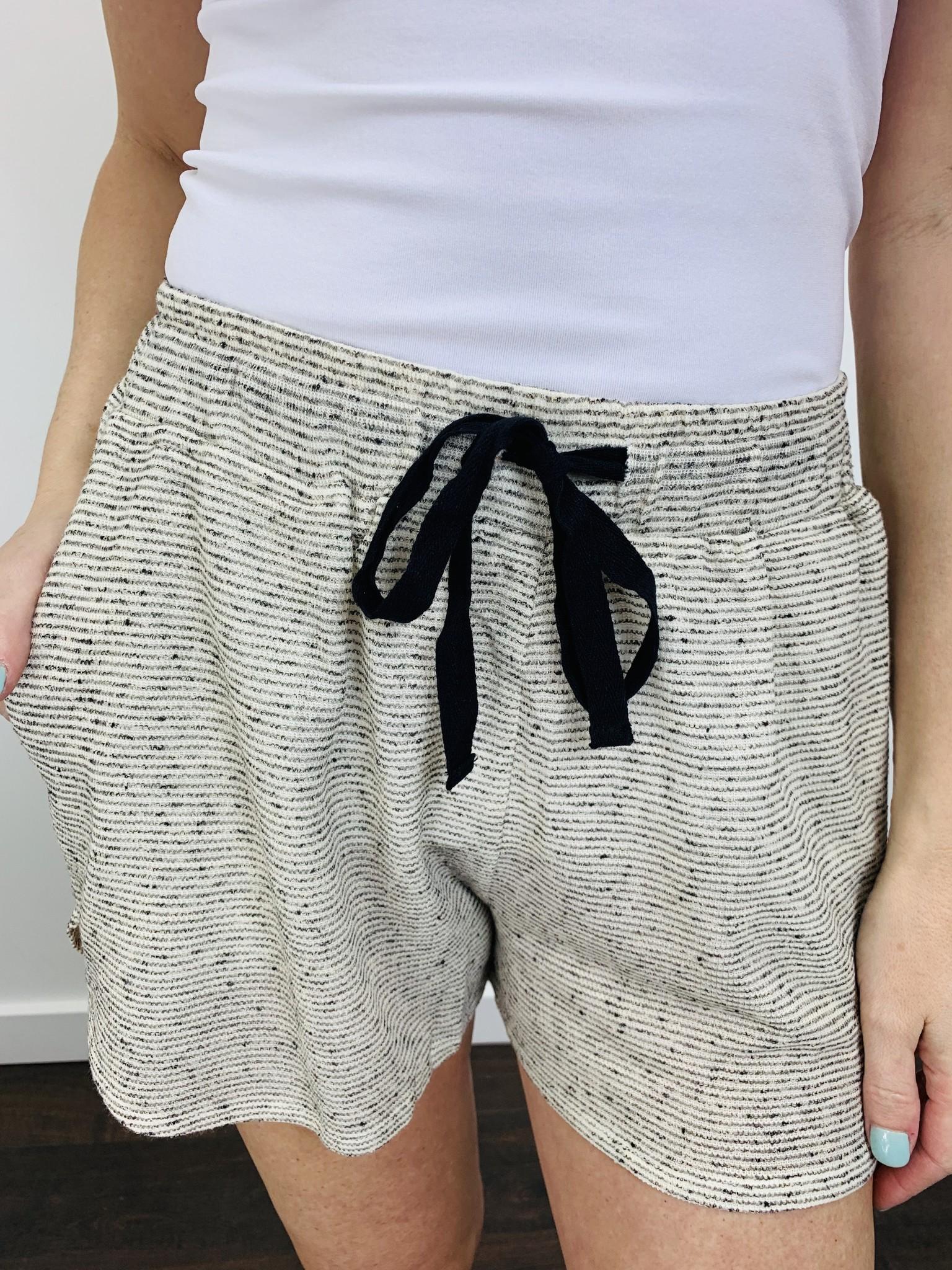 Hem & Thread Drawstring Shorts