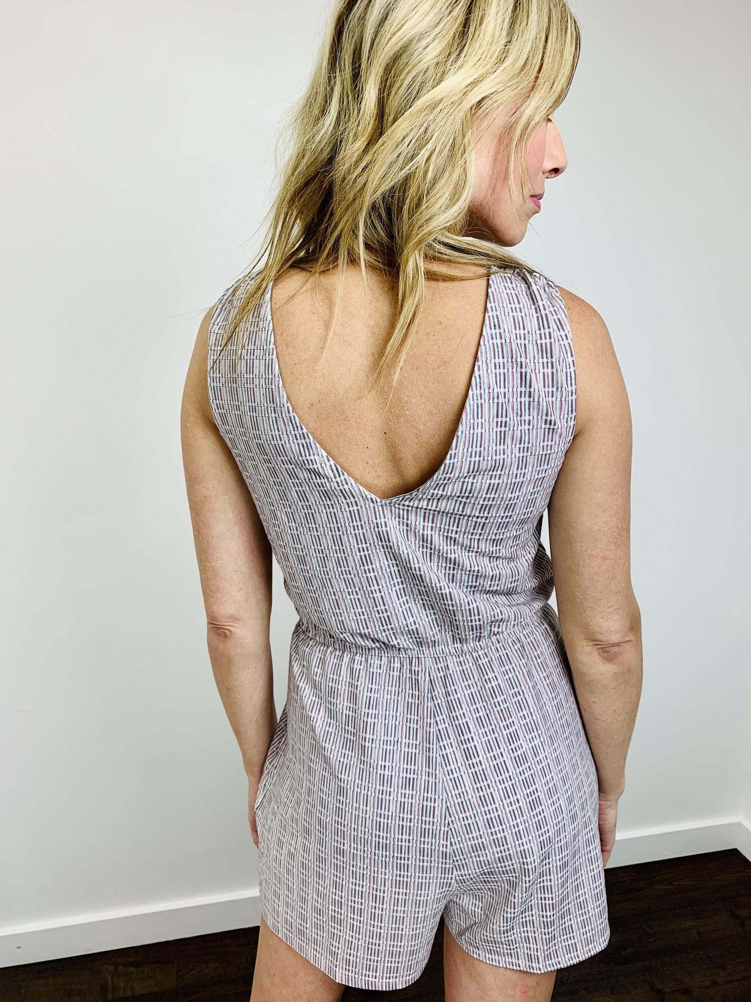 Hem & Thread Textured Stripe Romper