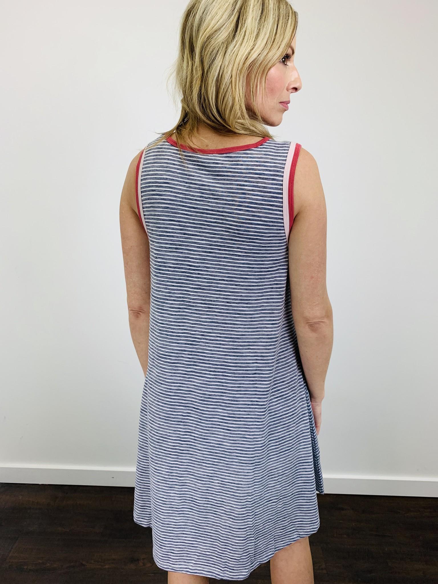 Hem & Thread Color Block Stripe Dress