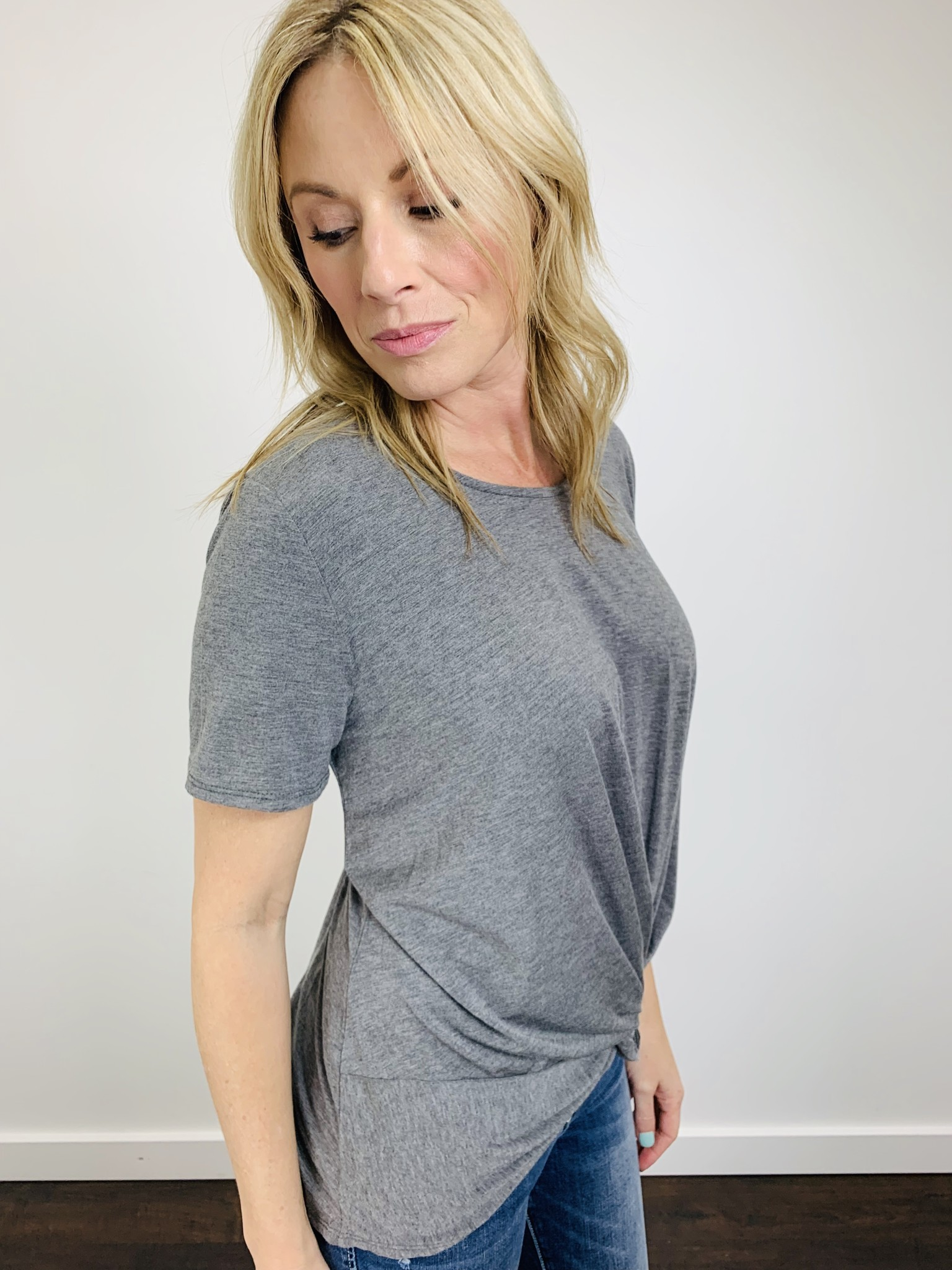 Downeast S/S Knot Top