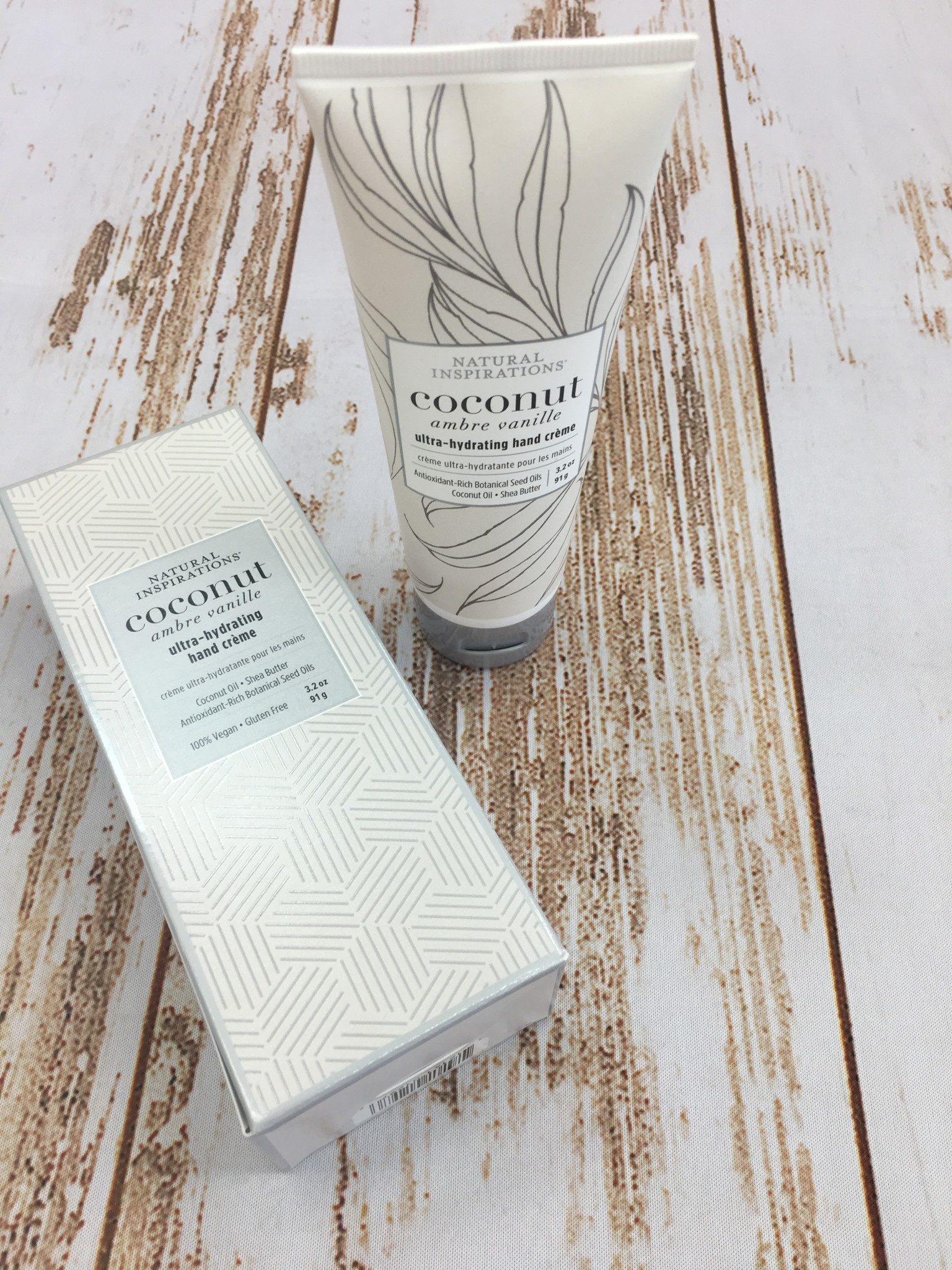 Natural Inspirations Coconut Ultra Hydrating Hand Cream 3.2 oz