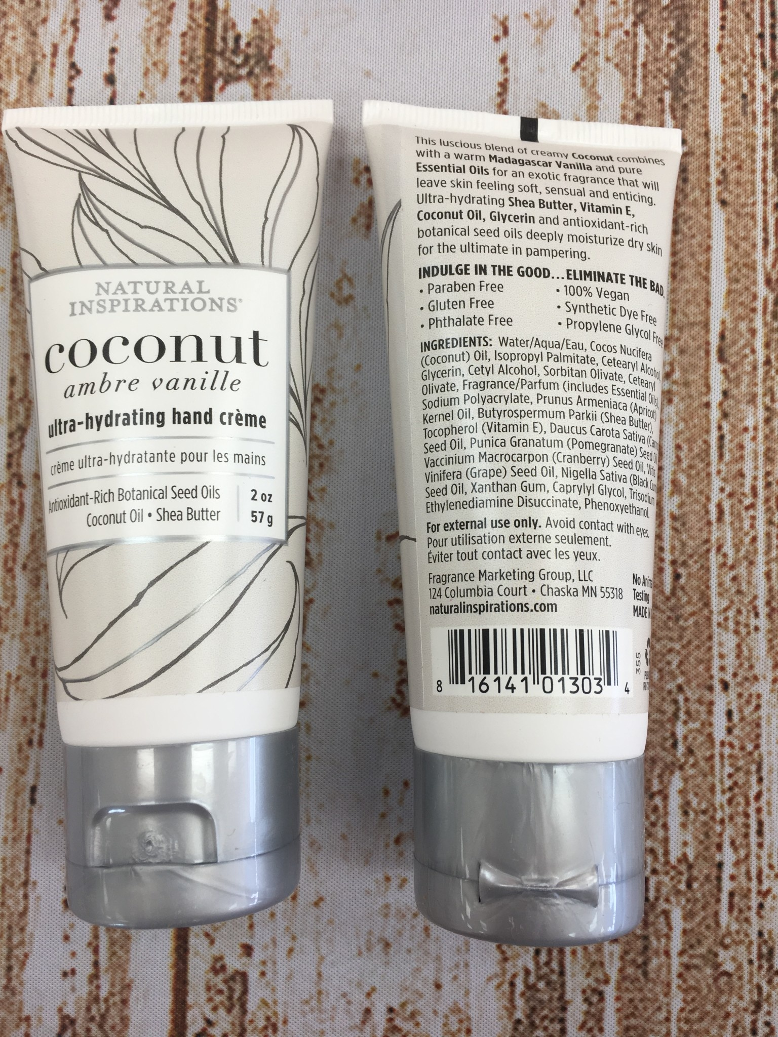 Natural Inspirations Coconut Ultra Hydrating Hand Cream 2 oz