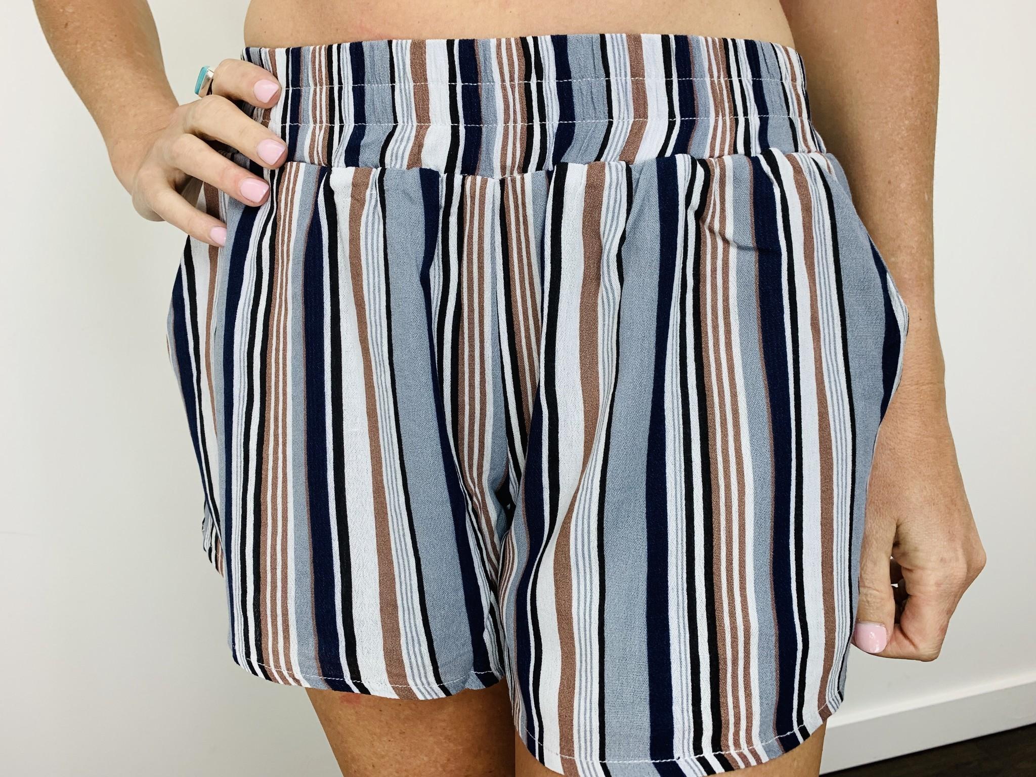 Orb Lana Short in Multi Stripe