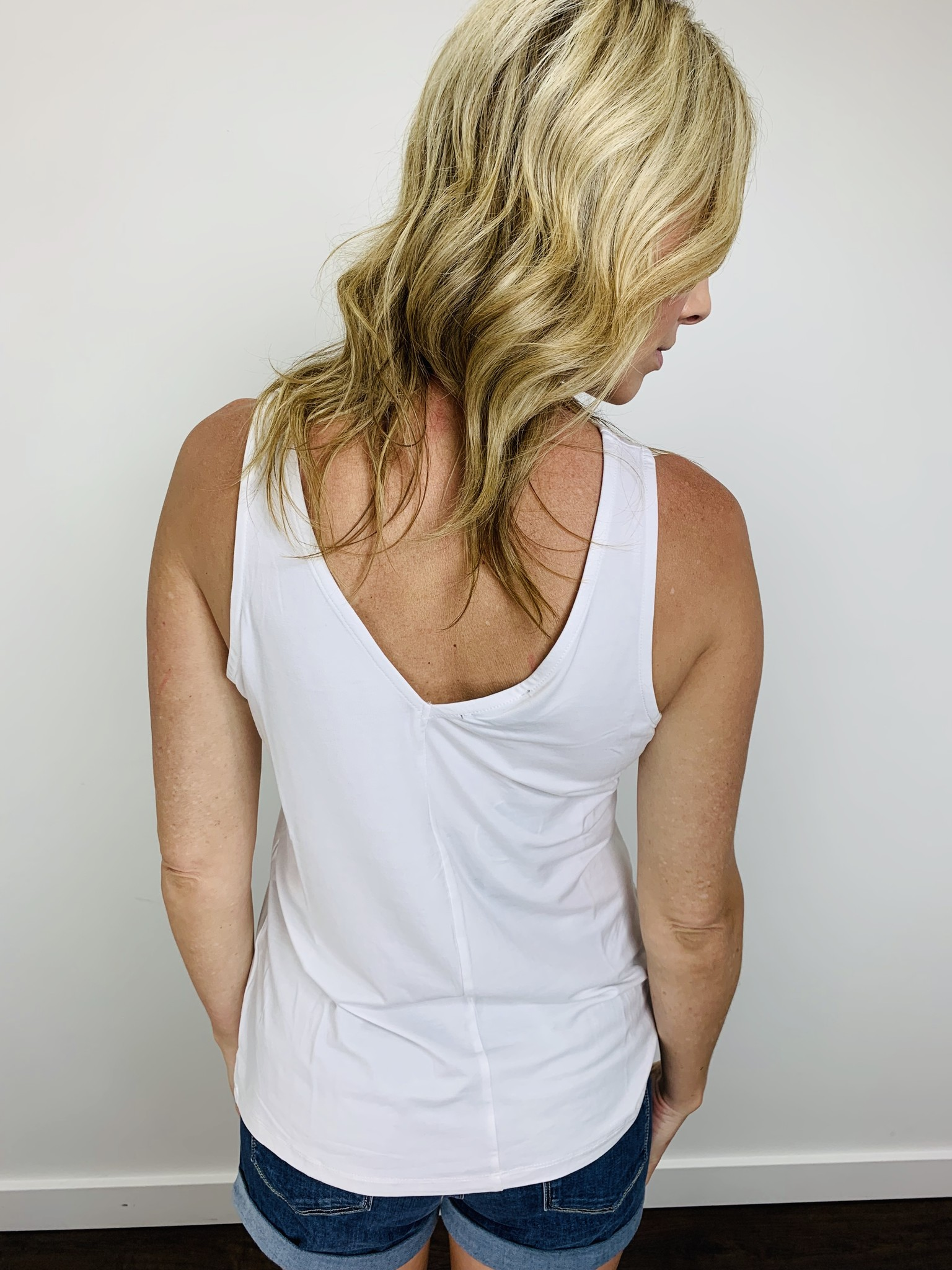 Orb Cassi Reversible Tank in White
