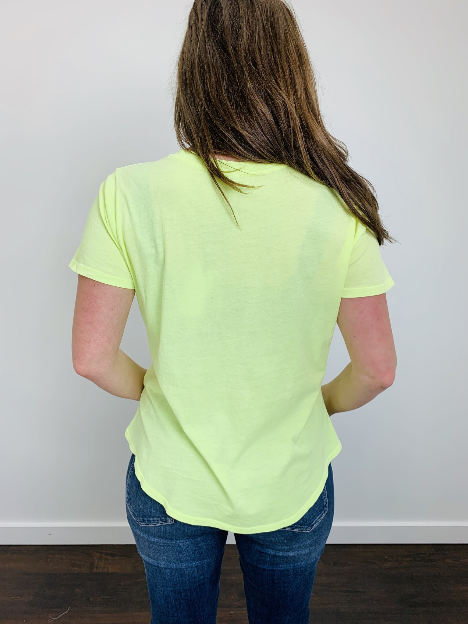 ZSupply The Neon V-Neck Tee in Neon Lime