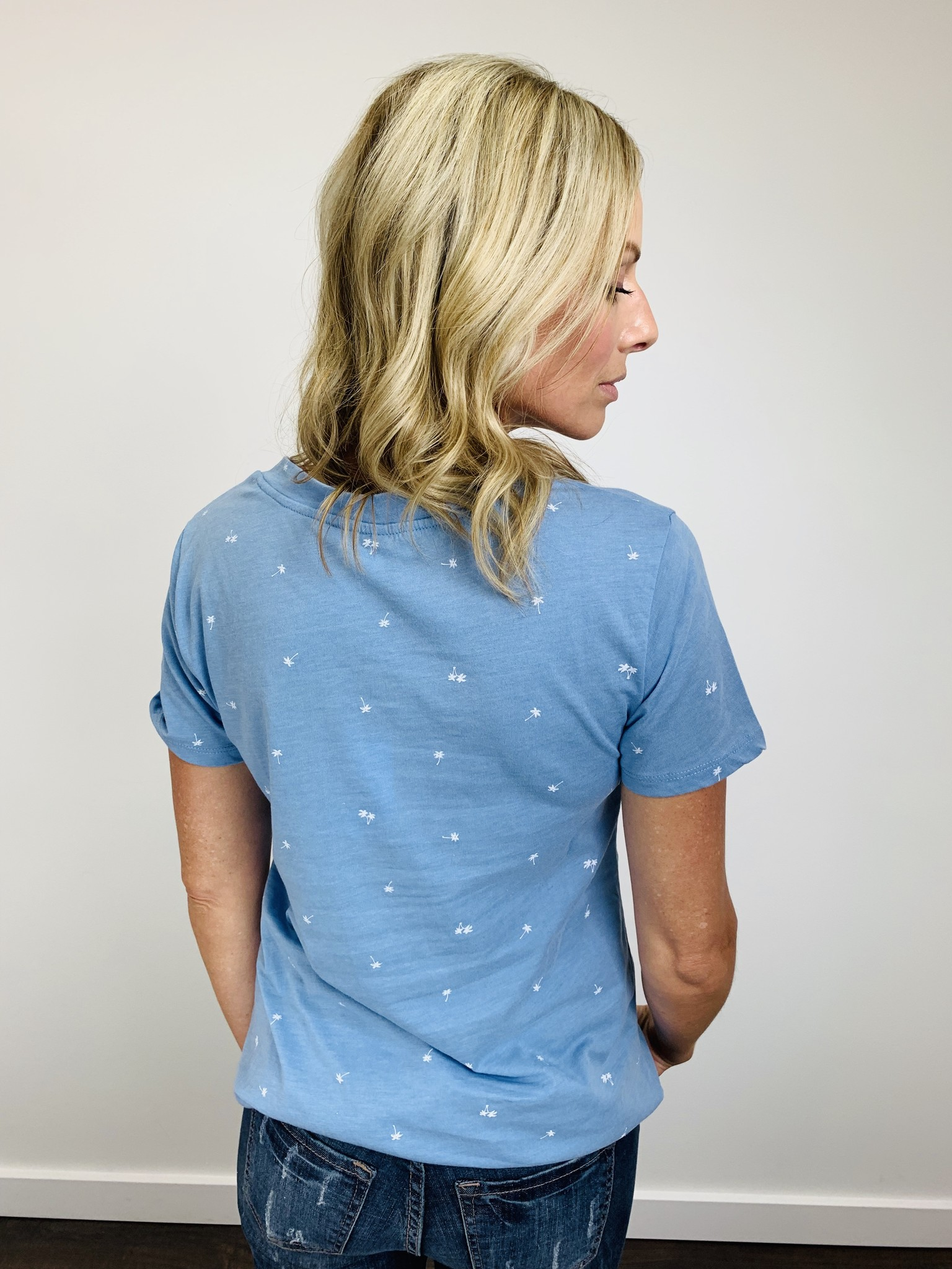 ZSupply The Mini Palm Pocket Tee in Allure Blue