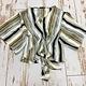 Ariella Kimono Sleeve Stripe Tie Front Top