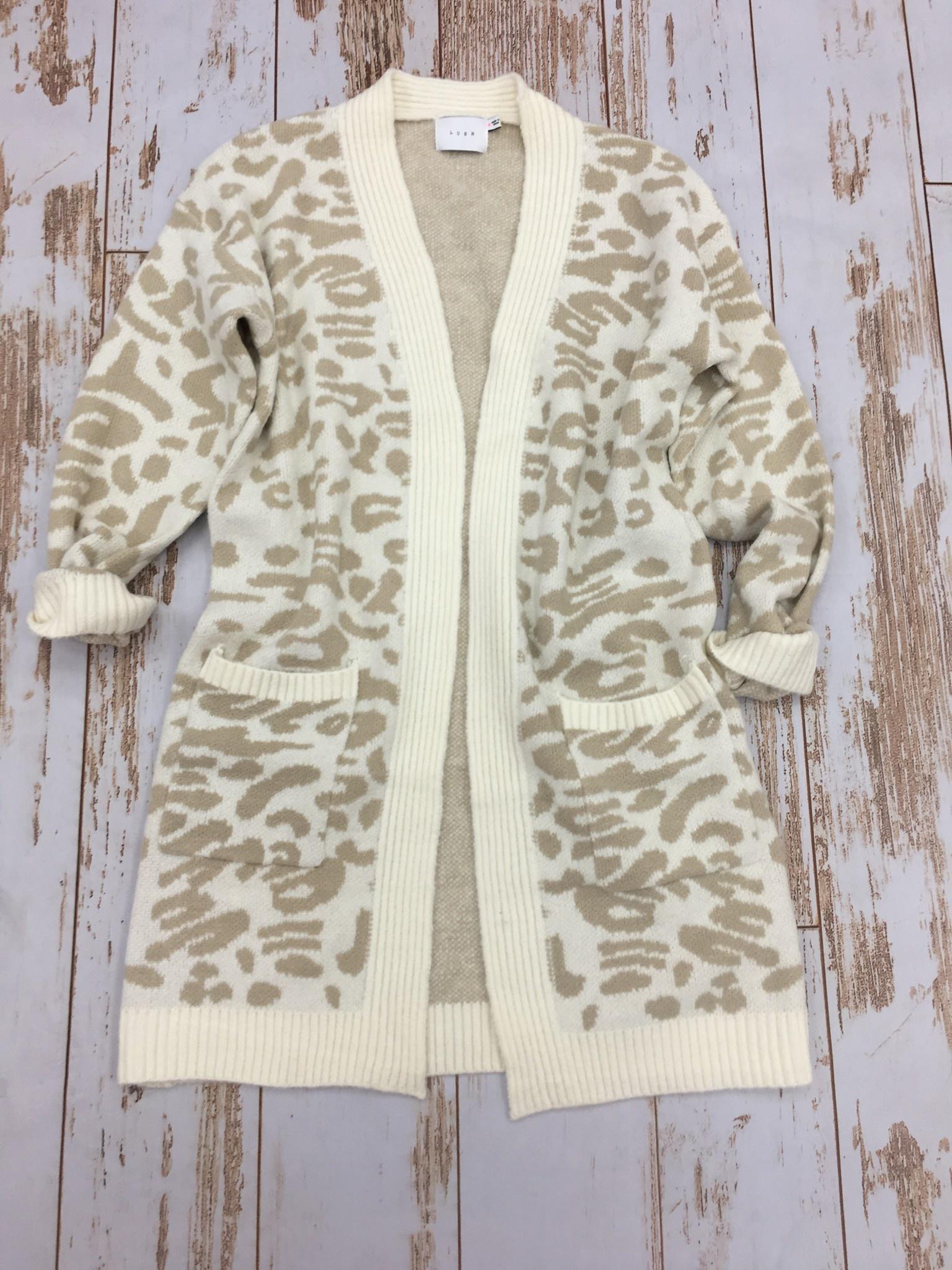 Lush Leopard Cardigan Cream
