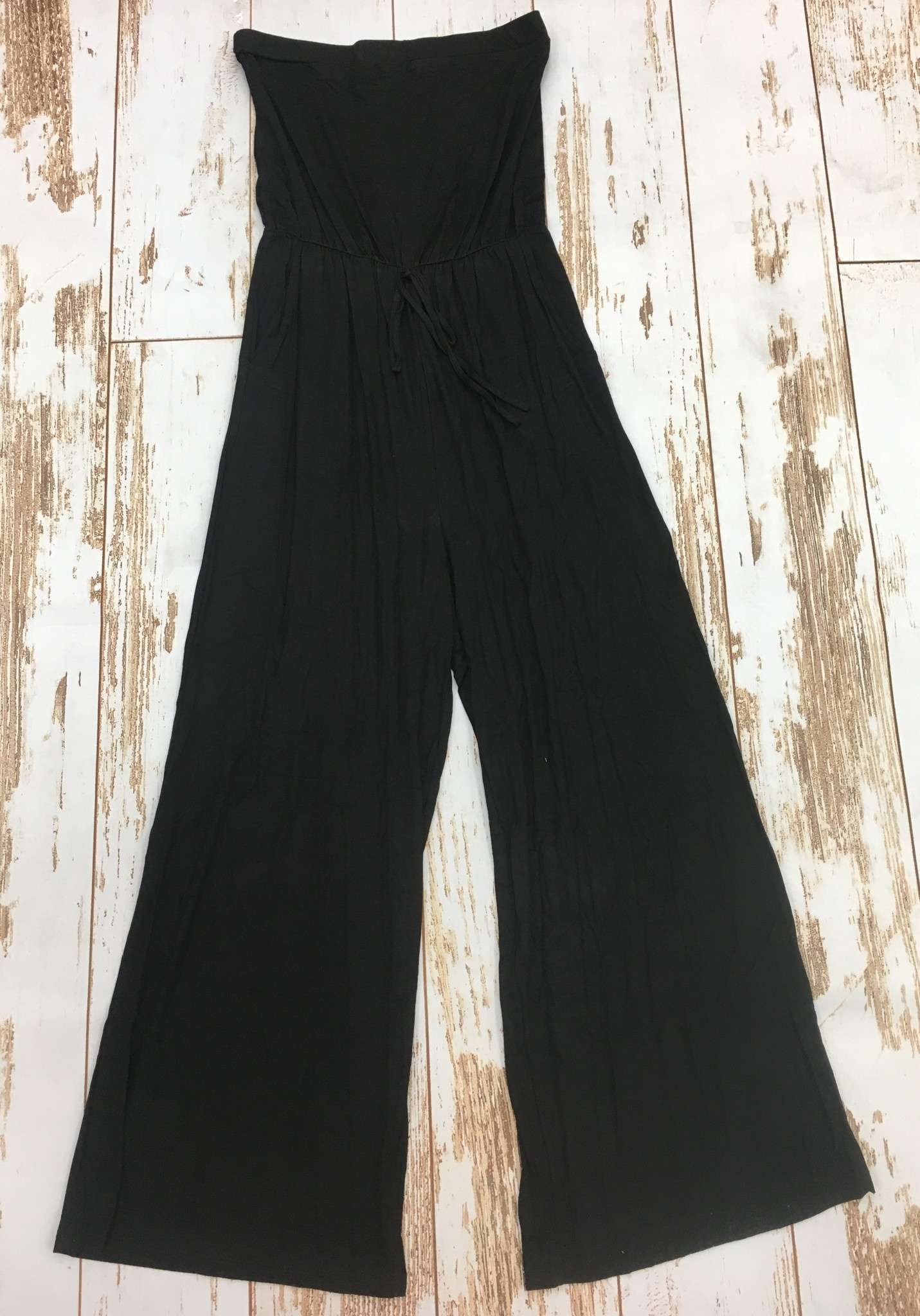 KLD Black Strapless Jumpsuit