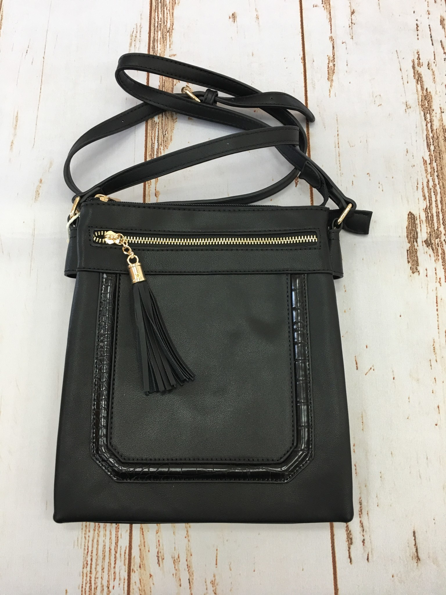Accessorize Me Crossbody Tassel Purse Black
