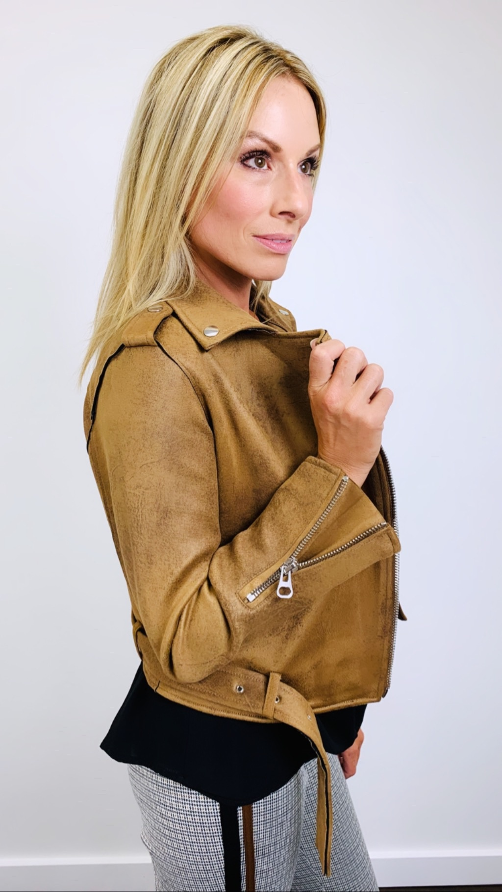 Dex Tan Moto Jacket
