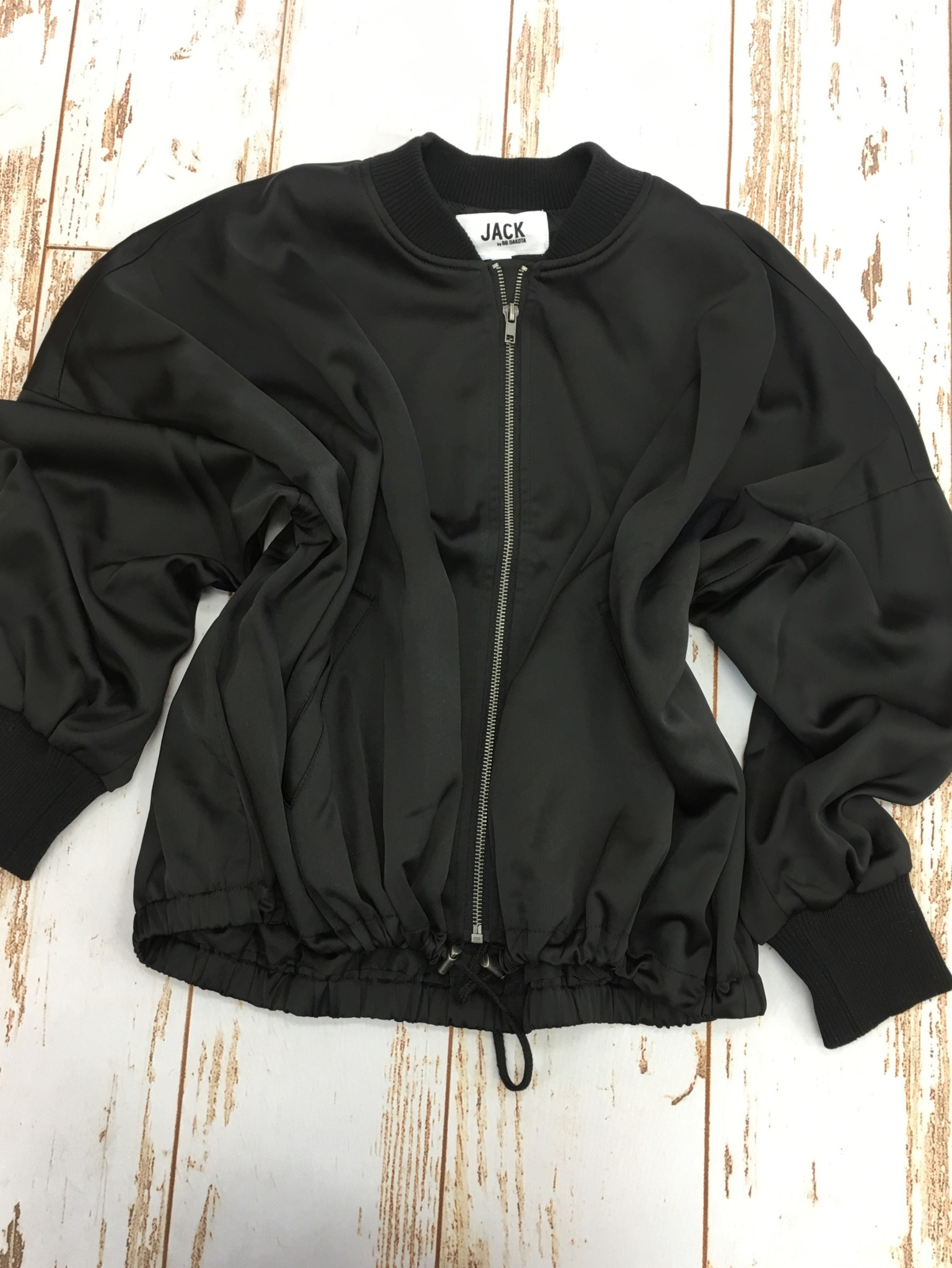 Jack by BB Dakota Black Bomber Jacket