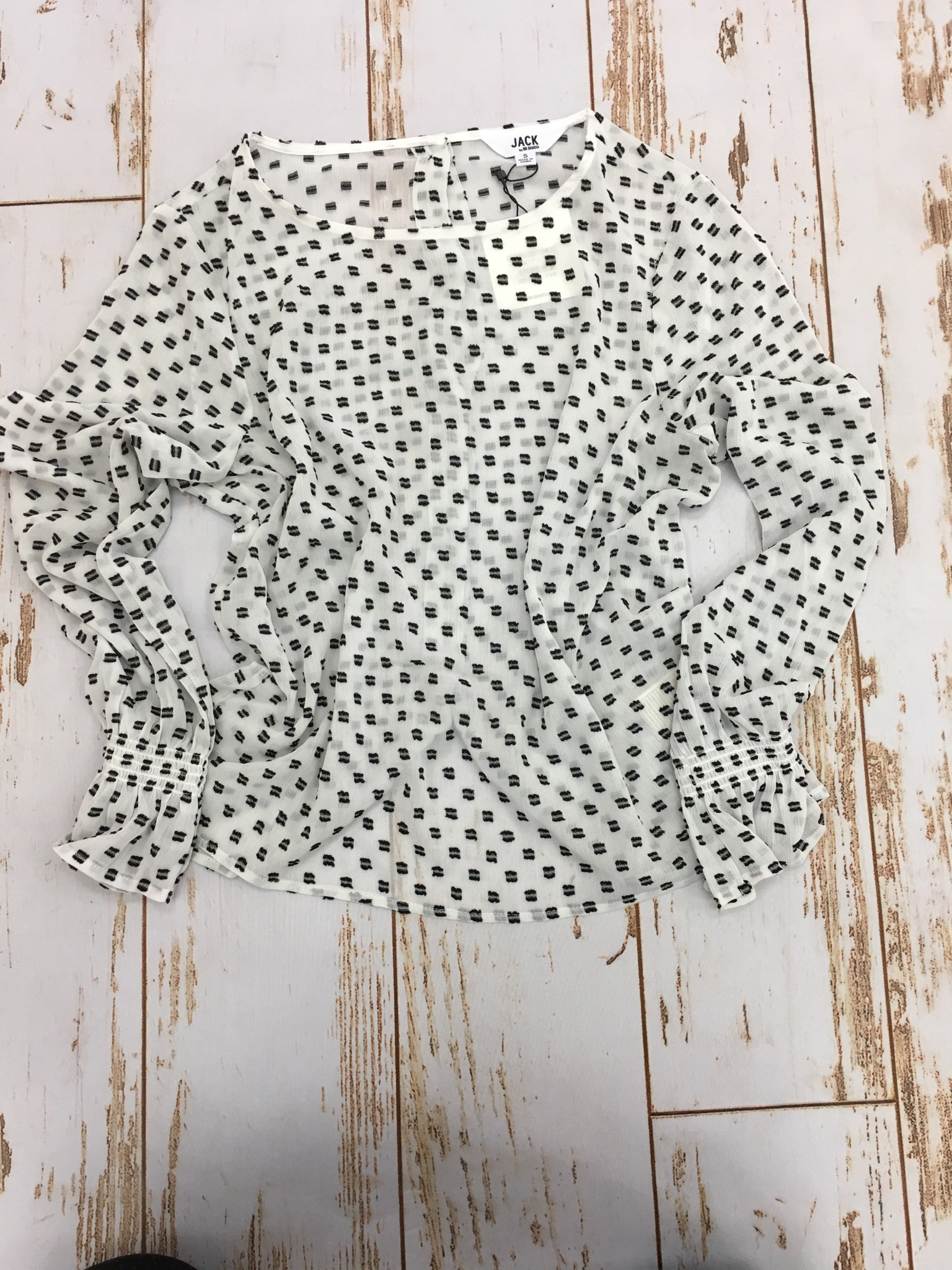 Jack by BB Dakota Black and White Dotted Top