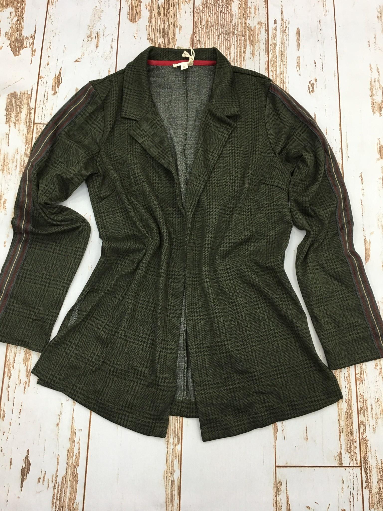 Hem & Thread Plaid Jacket