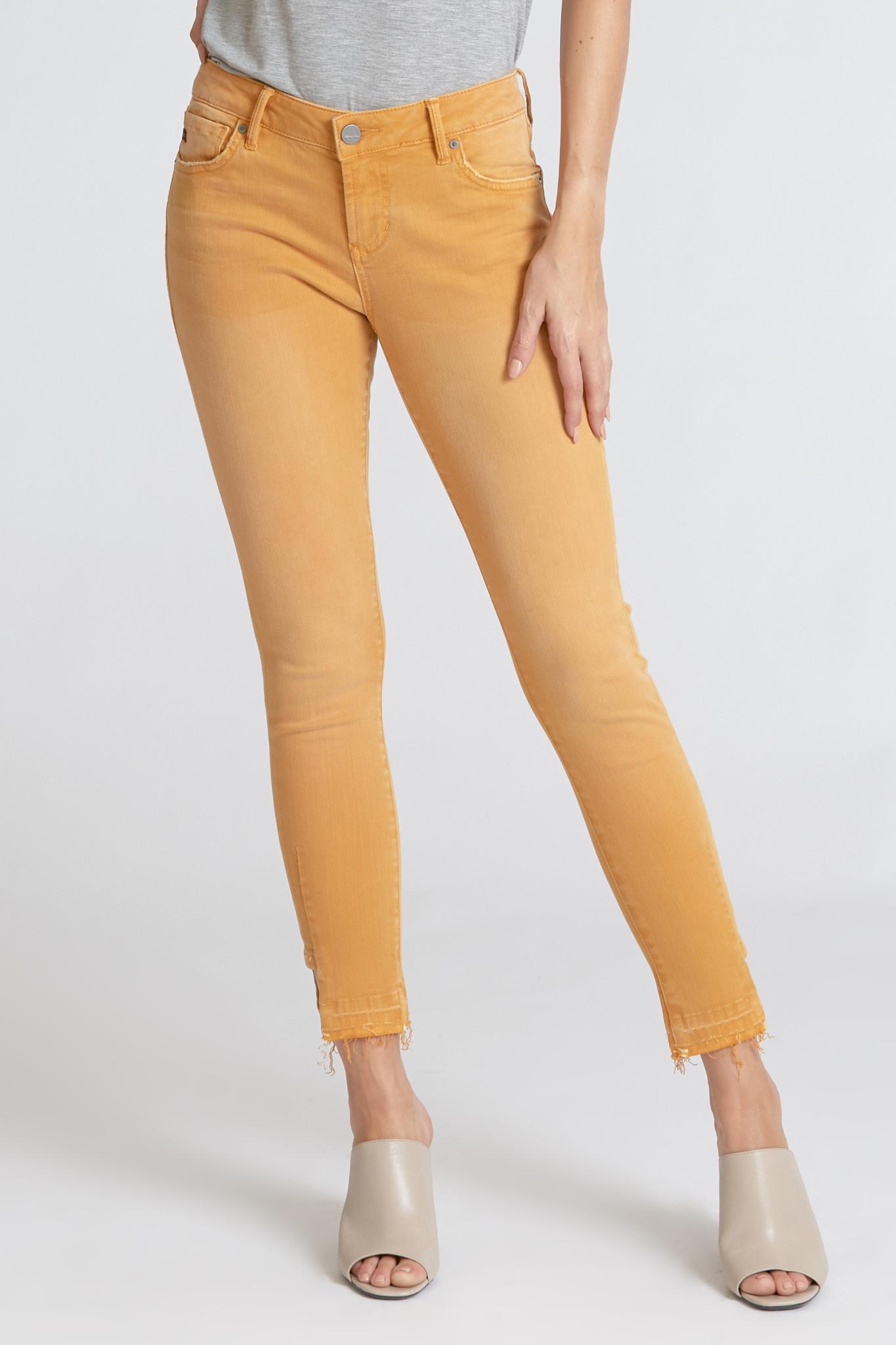 Dear John Joyrich Skinny Ankle Notch Jean in Honey Gold