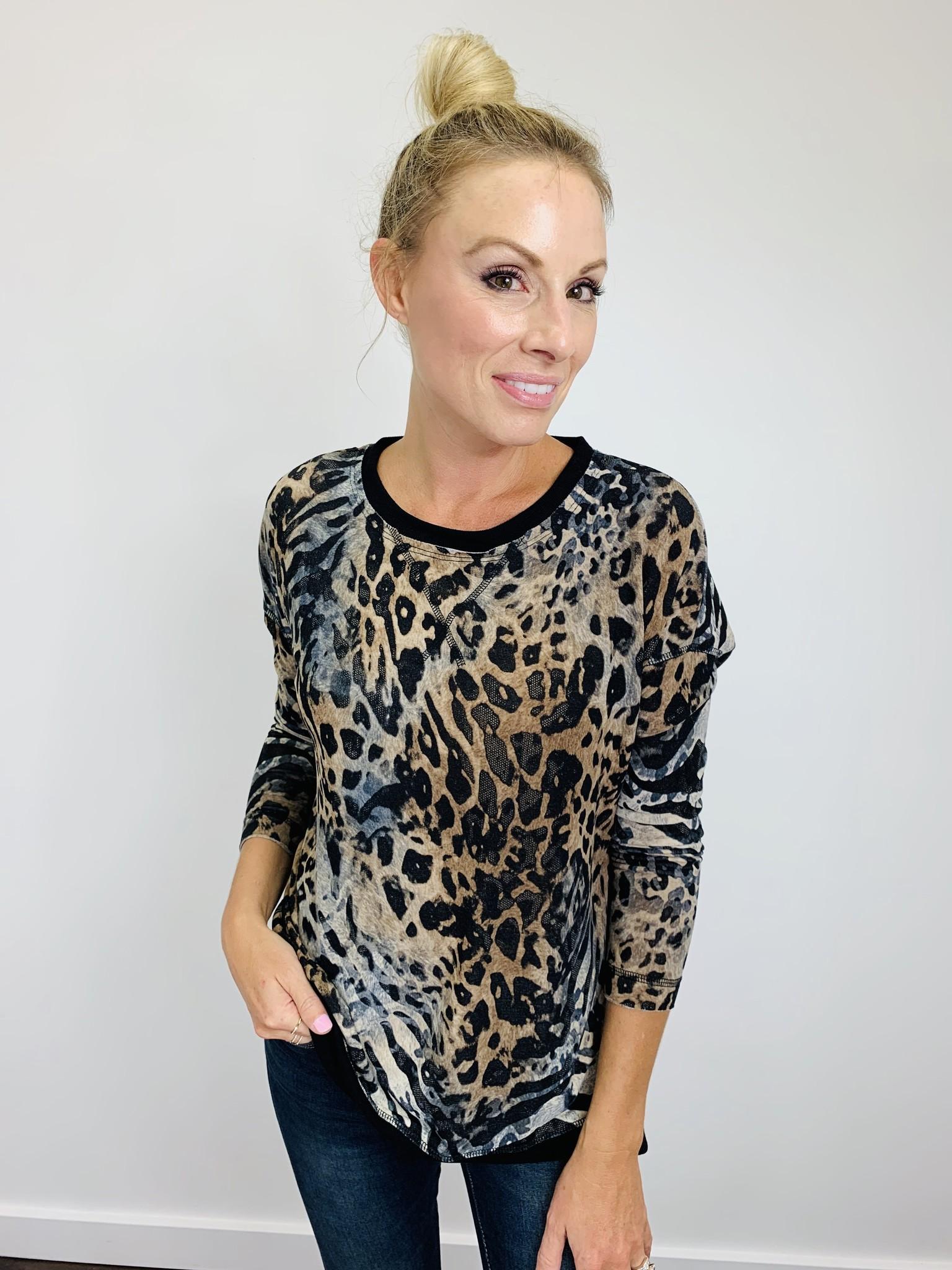 KLD Leopard Print Tunic