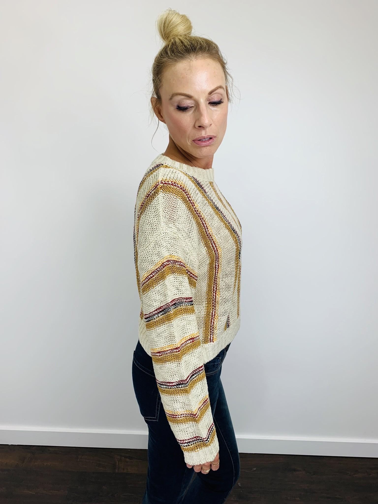 KLD Mustard Multi Stripe Sweater