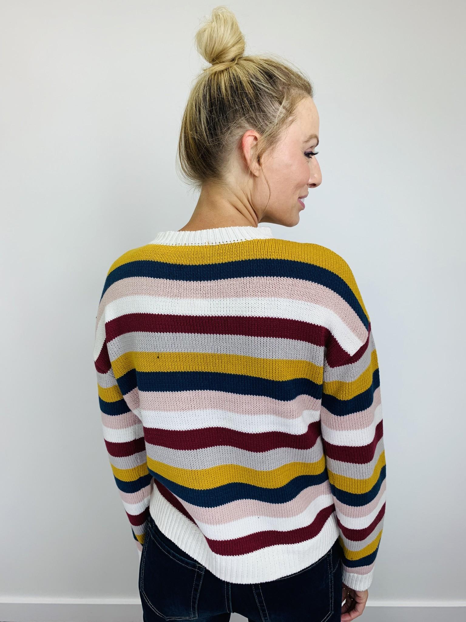 Rag Poets Smith Striped Sweater